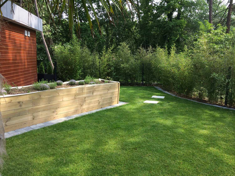 Exemples De Réalisations Paysagères Réalisées Dans Les Hauts ... intérieur Exemple D Aménagement De Jardin