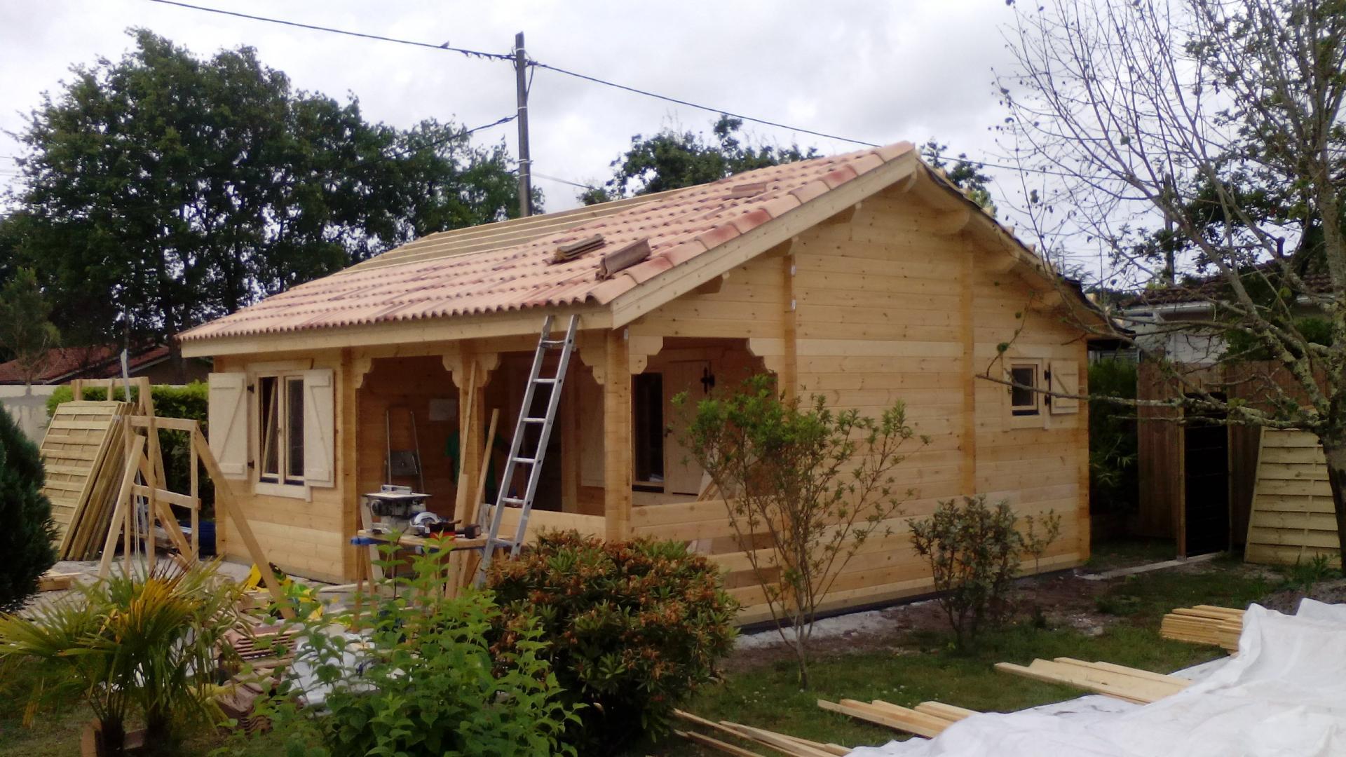 Fabricant Constructeur De Kits Chalets En Bois Habitables - Stmb dedans Abris De Jardin Occasion