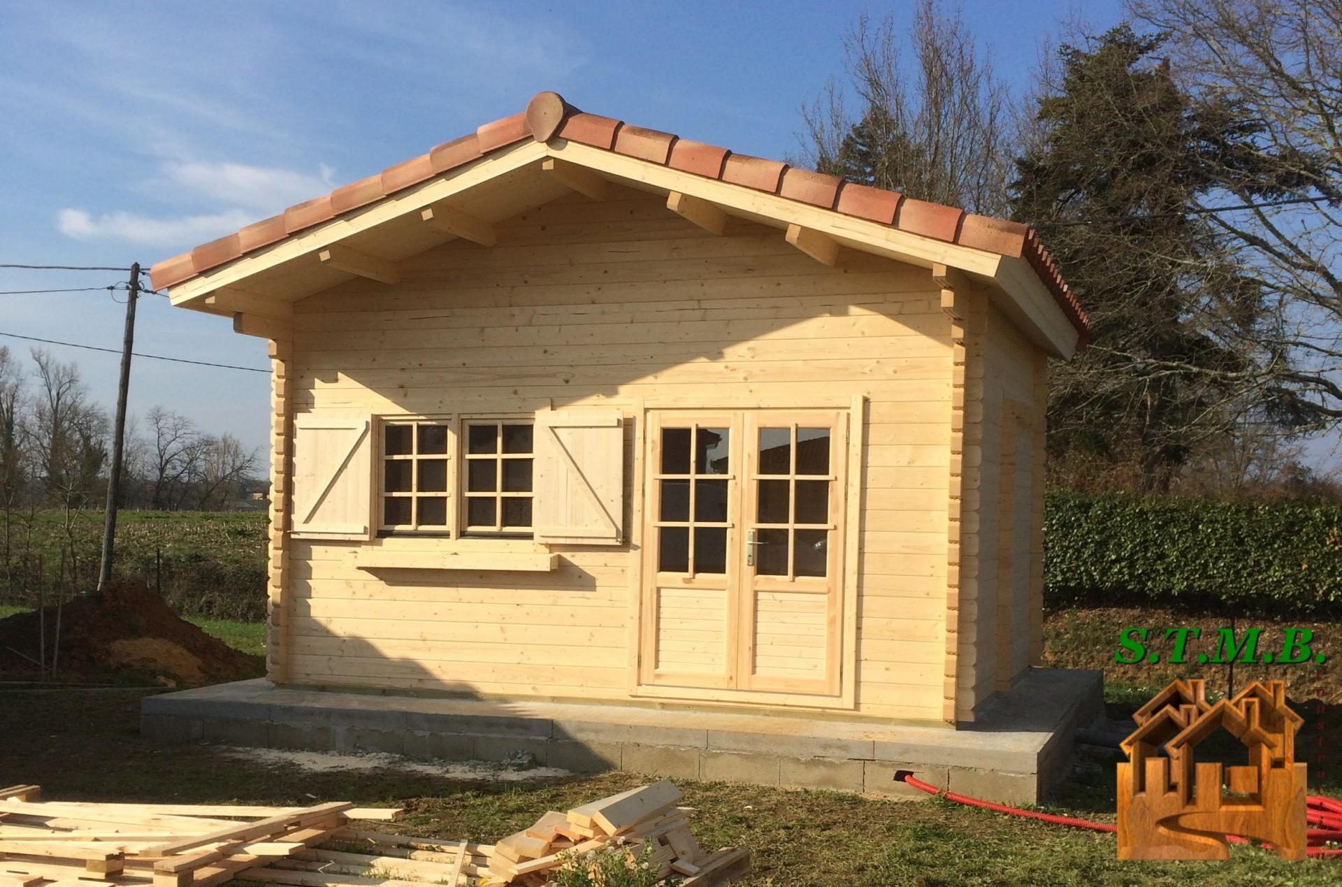 Fabricant Constructeur De Kits Chalets En Bois Habitables - Stmb tout Cabane De Jardin Occasion