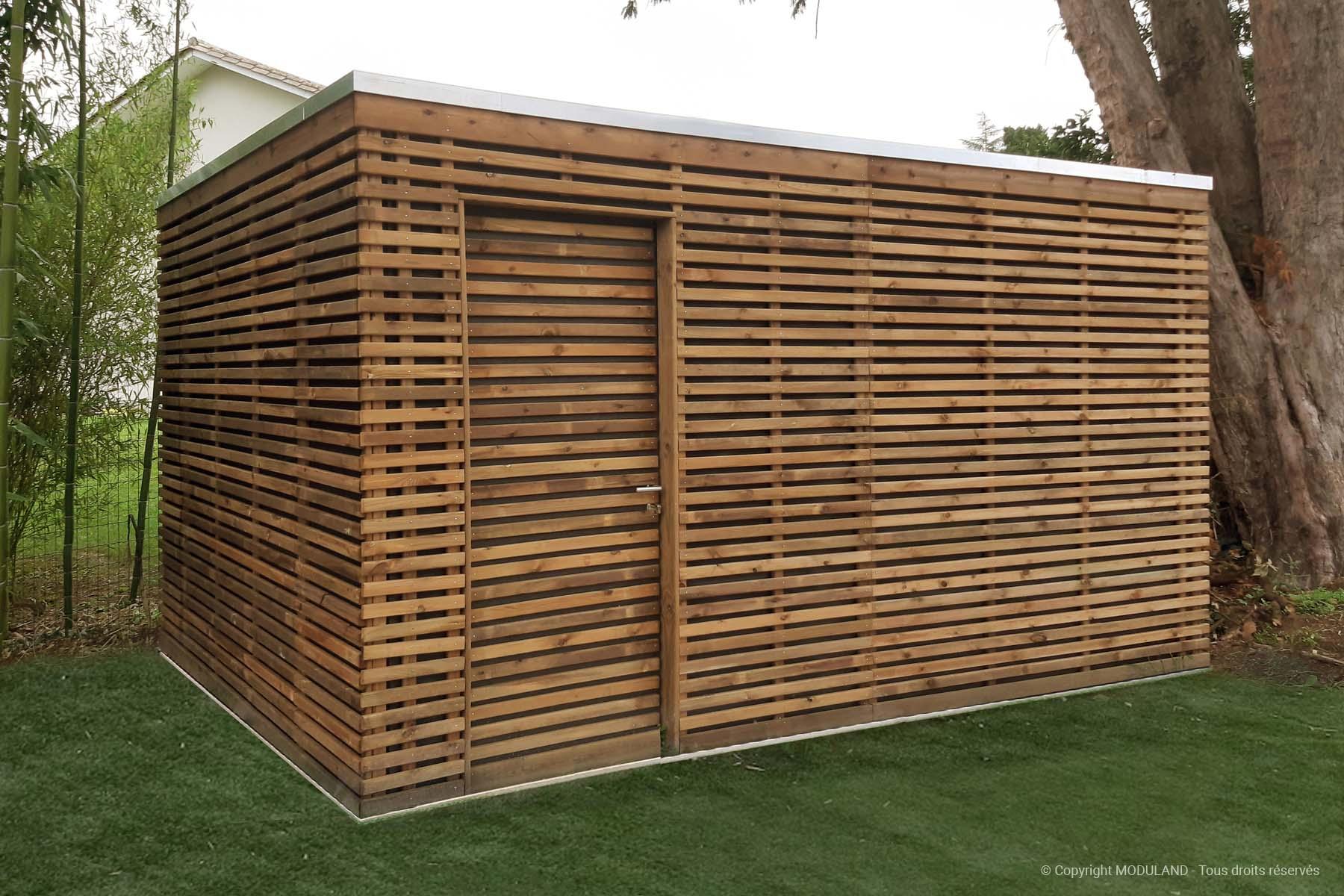 Fabricant D'abris Et Structures Bois Sur Mesure | Moduland dedans Abris De Jardin 20M2