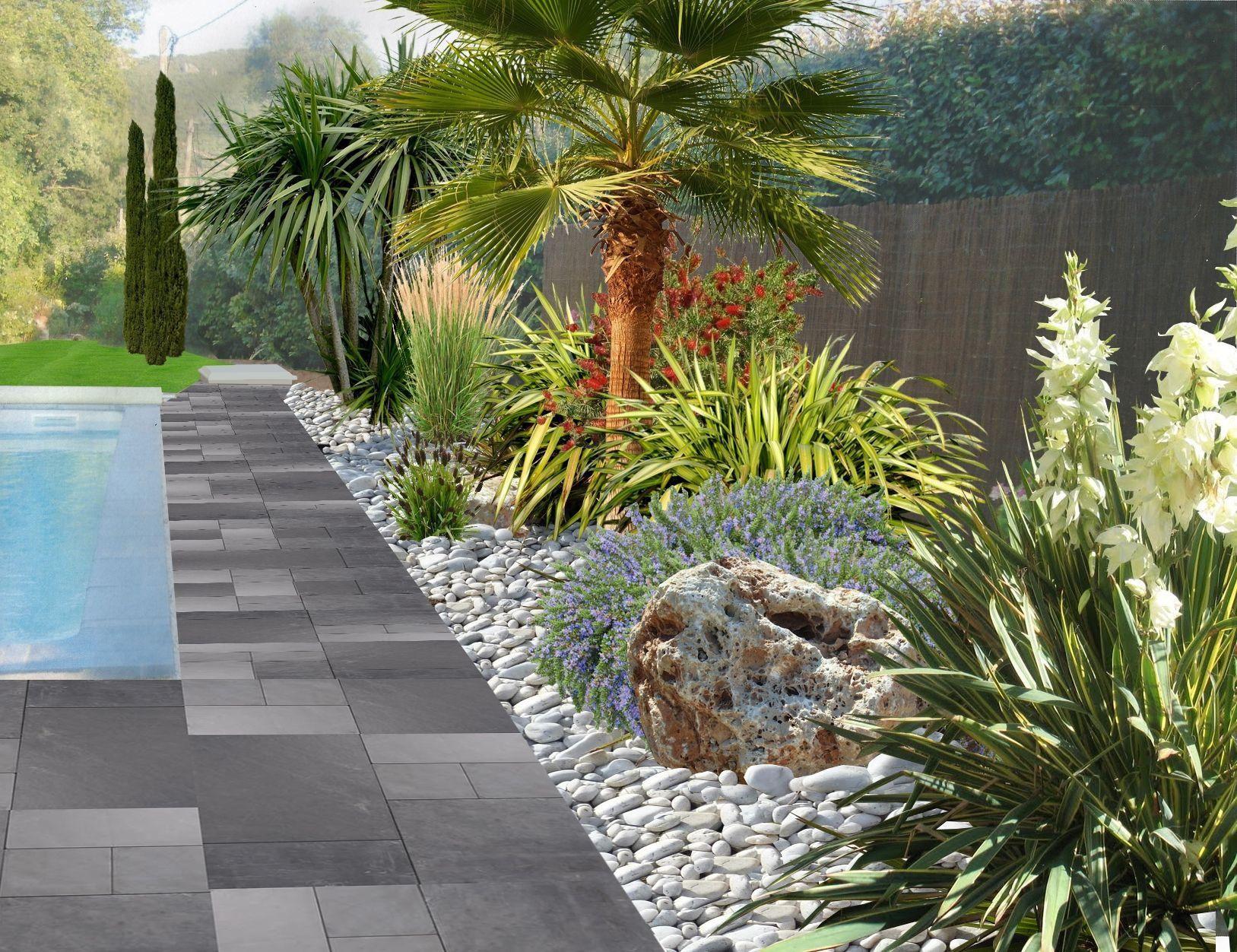 Faire Un Jardin Autour D'une Piscine, Planter Les Abords D ... pour Exemple D Aménagement De Jardin