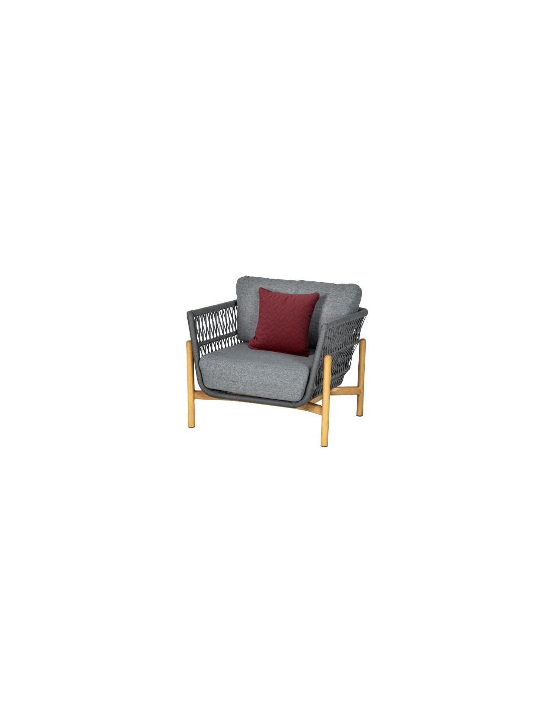 Fauteuil Rubby En Aluminium Et Maille Acrylique - Hesperide intérieur Chaise De Jardin Hesperide