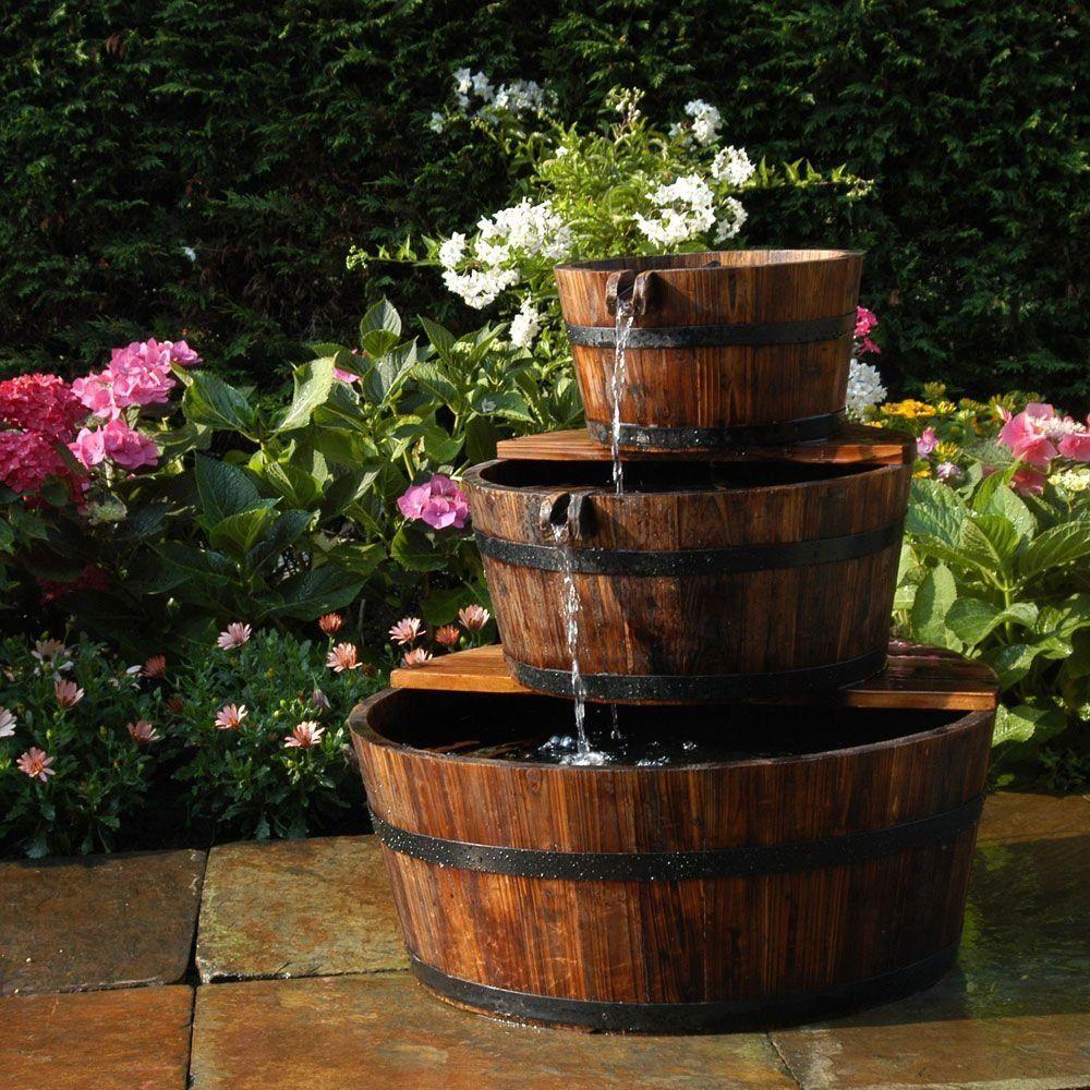 Fontaine De Jardin 3 Tonneaux En Cascade Edinburgh Ubbink ... tout Vente Privée Jardin