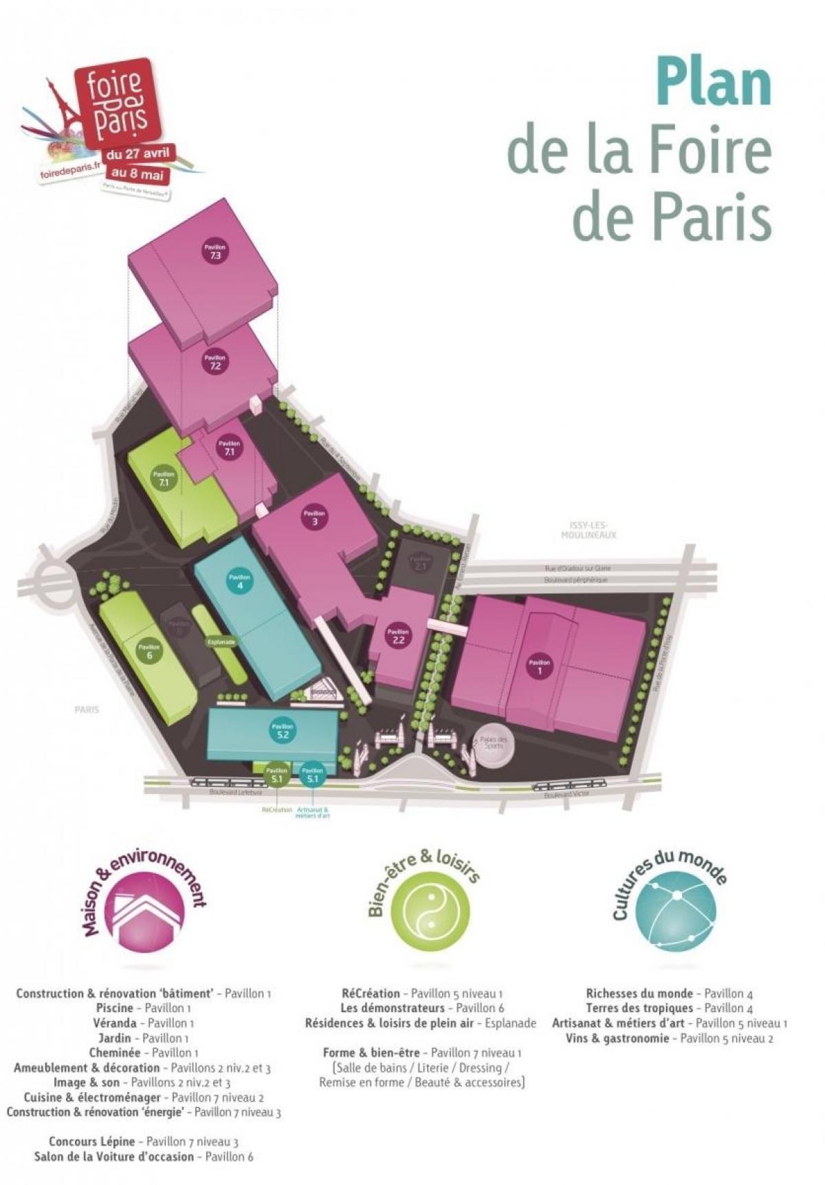 Fransa)Foire De Paris Foire De Paris Haritası - Harita tout Salon De Jardin D Occasion