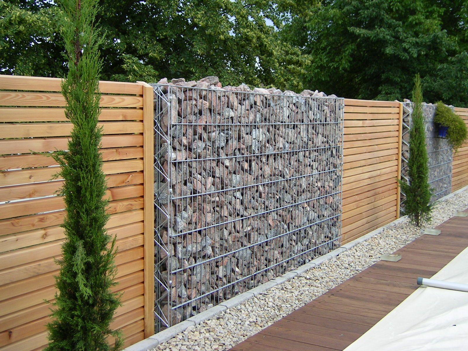 Gabion Wall | Jardineria | Cloture Jardin, Jardins Et ... pour Separation De Jardin