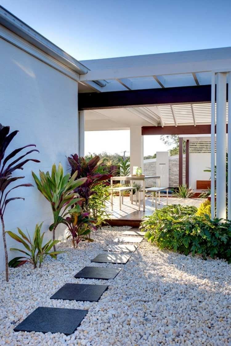 Galet Décoratif Blanc: Plus De 45 Idées Pour Vous Inspirer ... dedans Jardin Avec Galets Blancs