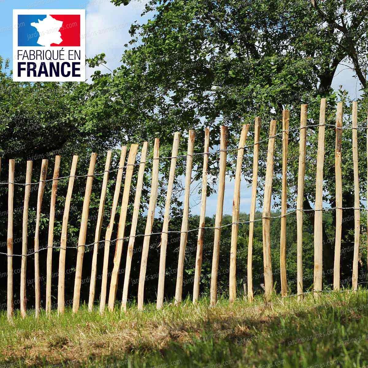 Ganivelle - Cloture En Châtaignier serapportantà Petite Barriere Jardin