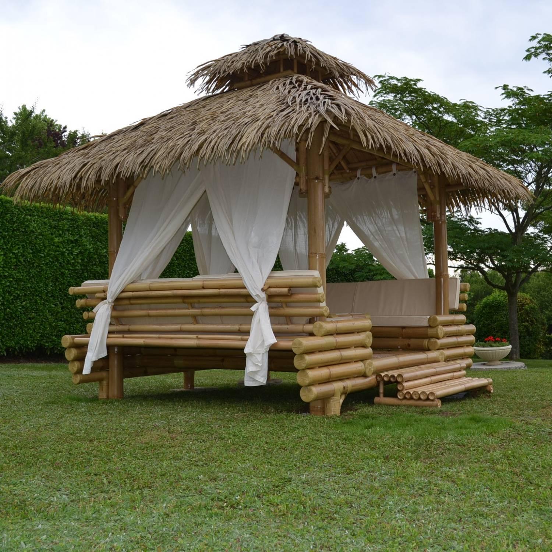 Gazebo Bambou Ou Paillote Bambou, Salon De Jardin, Pergola ... encequiconcerne Paillote Jardin
