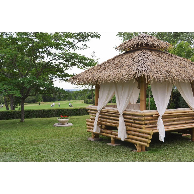 Gazebo Bambou Ou Paillote Bambou, Salon De Jardin, Pergola ... tout Paillote Jardin
