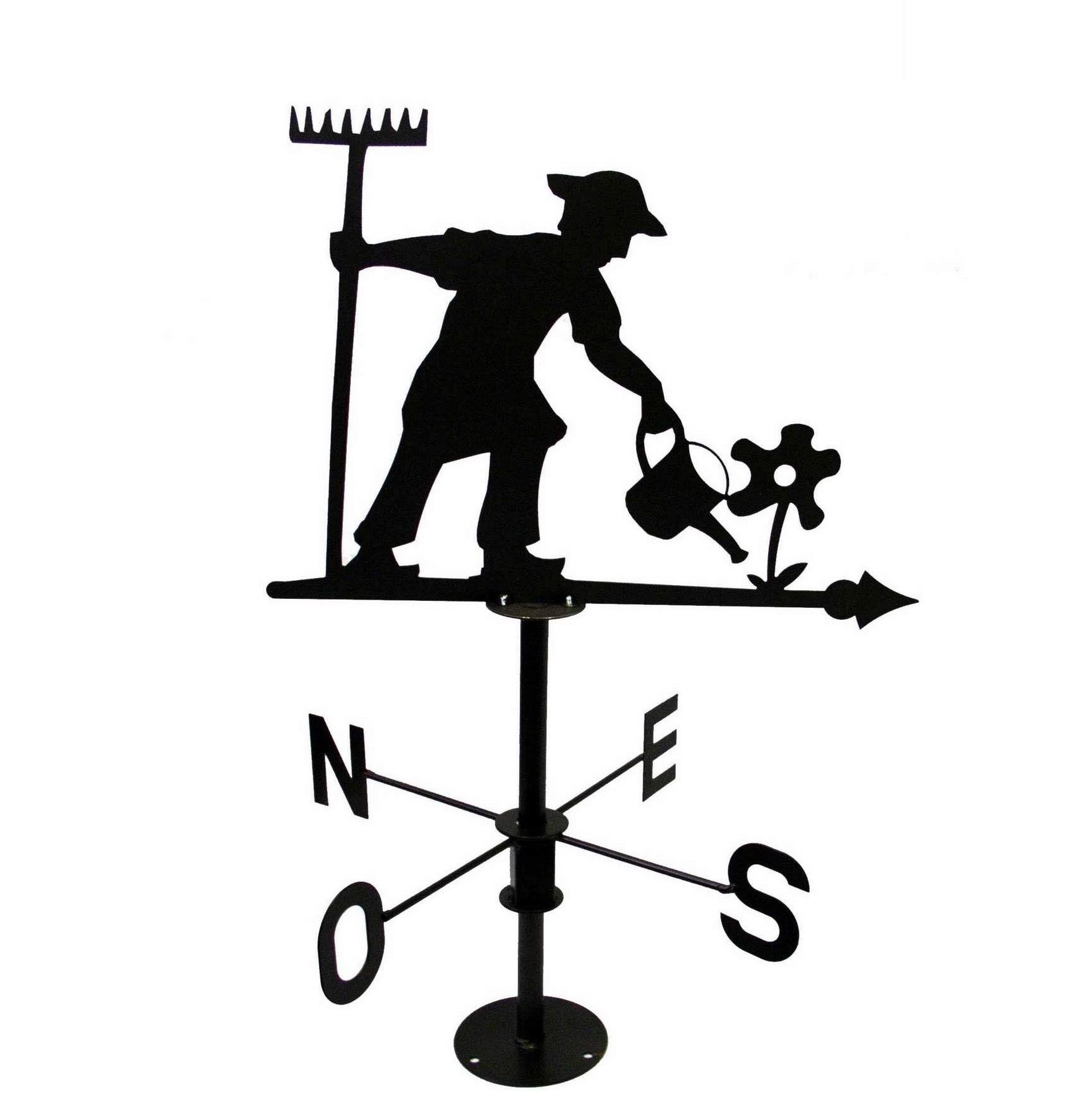Girouette Jardinier, Gris Métal, Jardifer® avec Girouette De Jardin