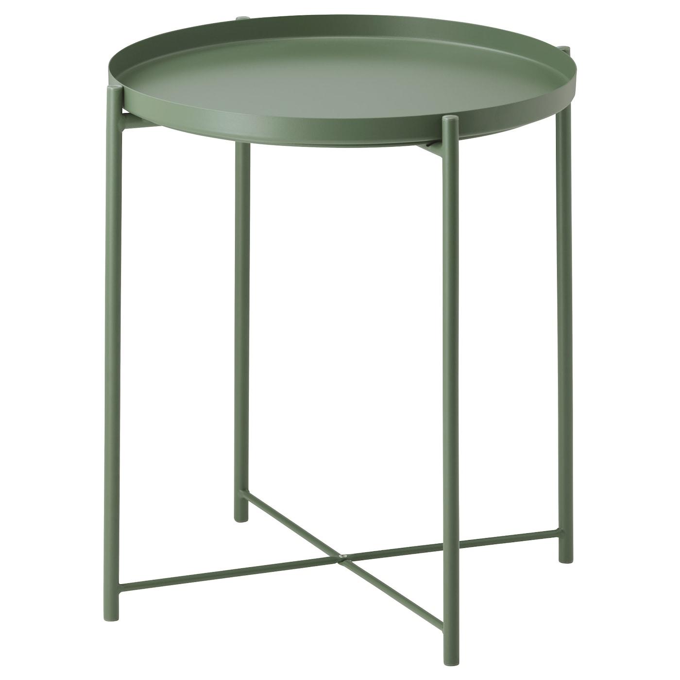 Gladom Table/plateau - Vert Foncé 45X53 Cm à Table Basse De Jardin Ikea