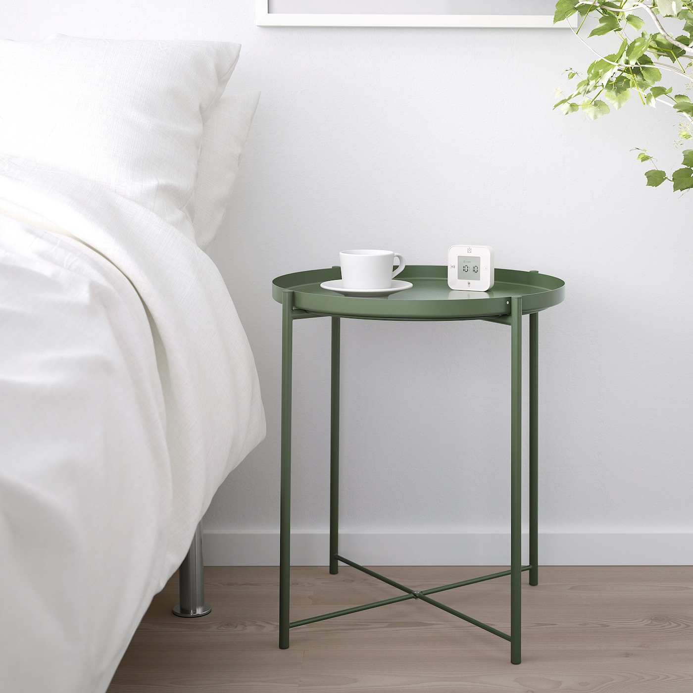 Gladom Table/plateau - Vert Foncé 45X53 Cm concernant Ikea Mobilier De Jardin