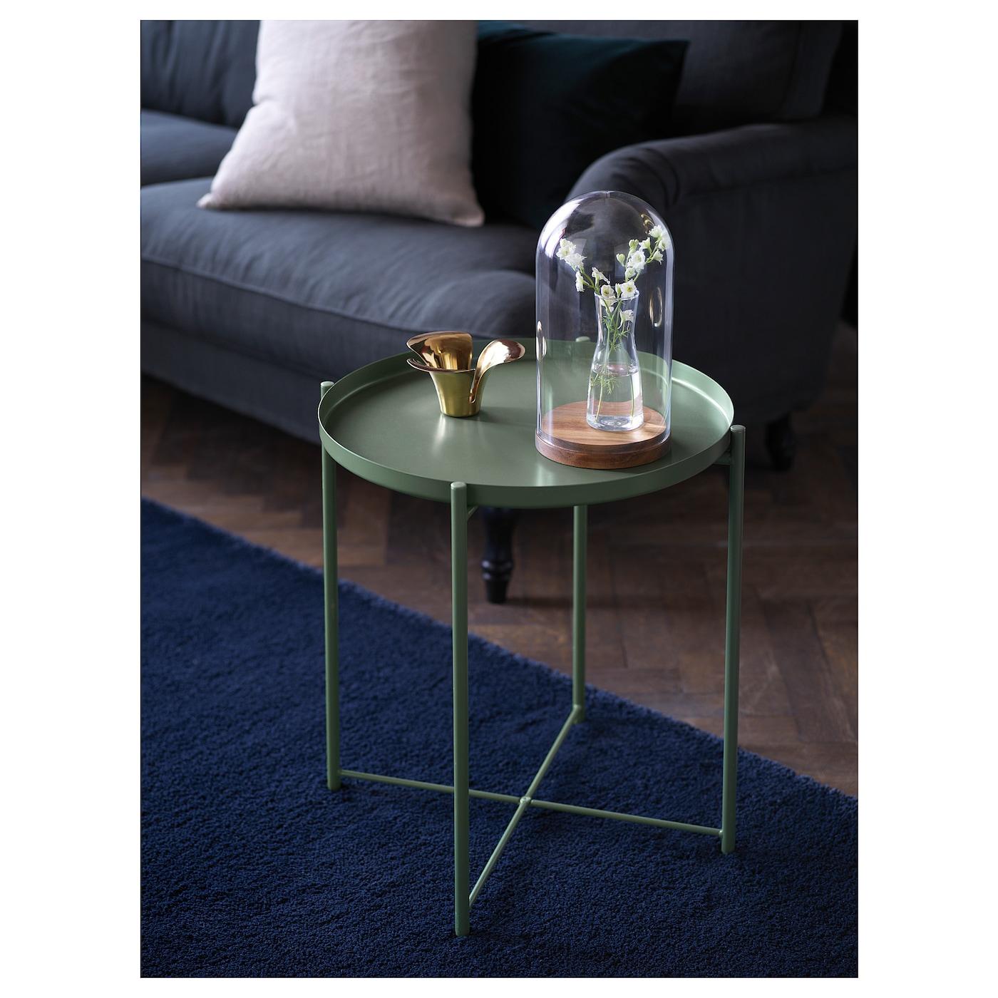 Gladom Table/plateau - Vert Foncé 45X53 Cm dedans Ikea Mobilier De Jardin