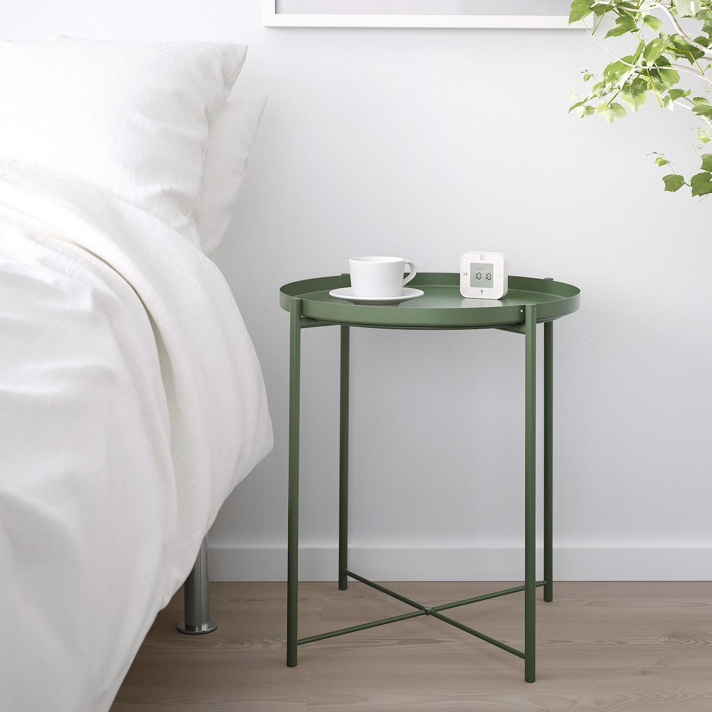 Gladom Table/plateau - Vert Foncé 45X53 Cm tout Mobilier De Jardin Ikea