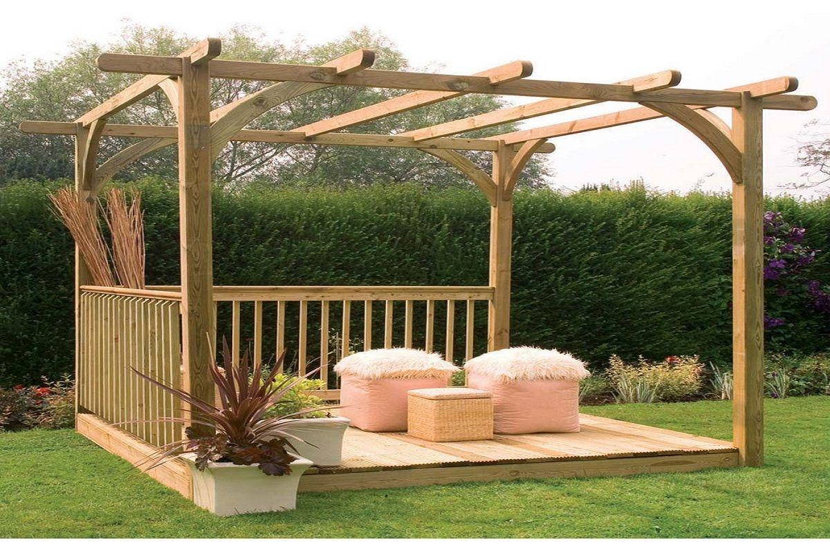 Gracieux Construire Une Tonnelle En Bois Pour Jardin ... concernant Tonnelle De Jardin En Bois