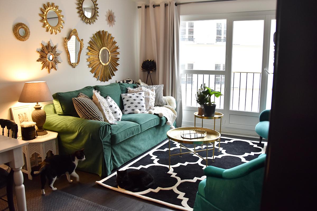 Green Sofa Cover : Relooking De Canapé | Hello It's ... dedans Transat Jardin Ikea