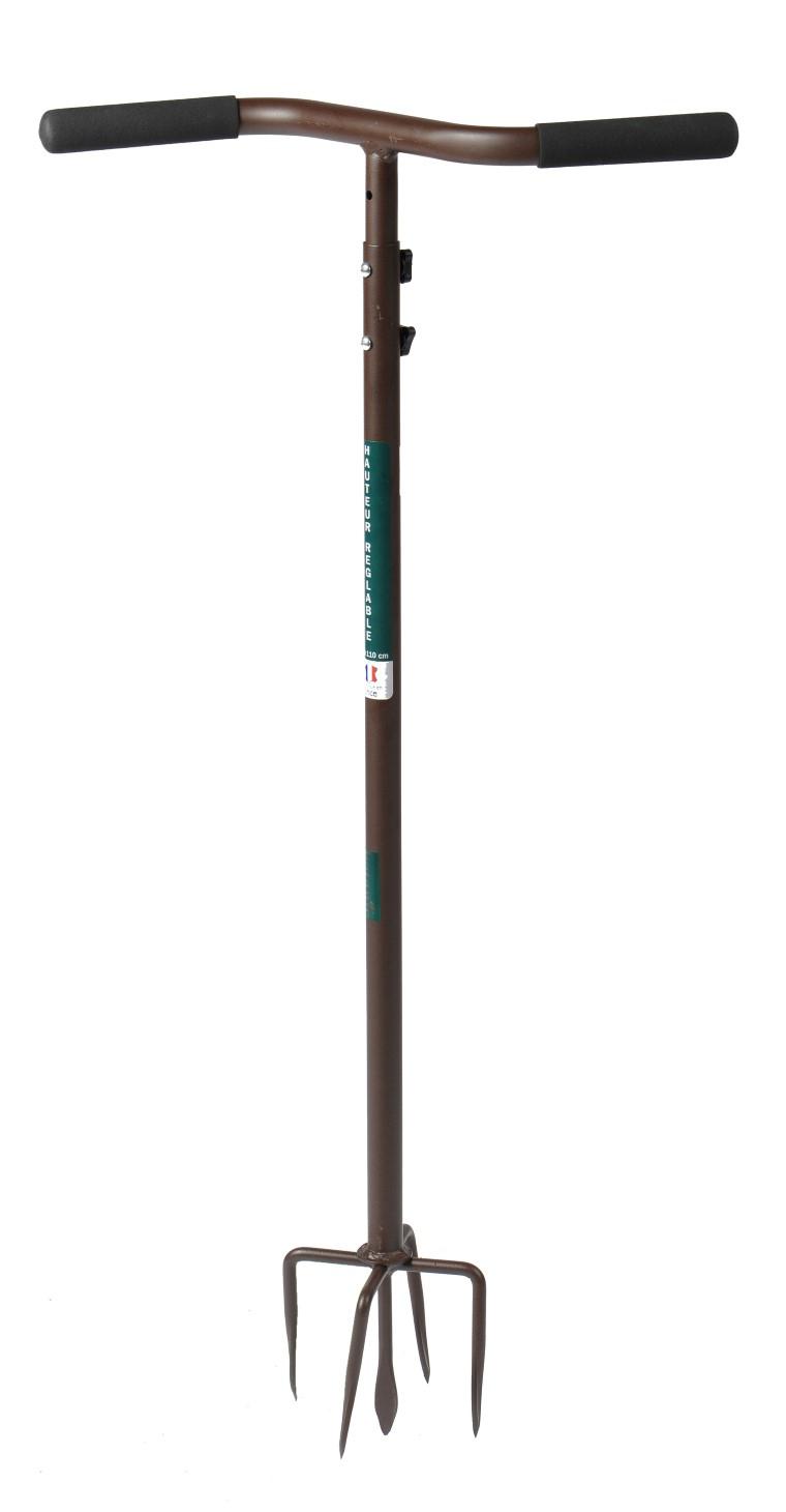 Griffe De Jardin Rotative Réglable - 90 À 110Cm : Outils De ... intérieur Griffe De Jardin
