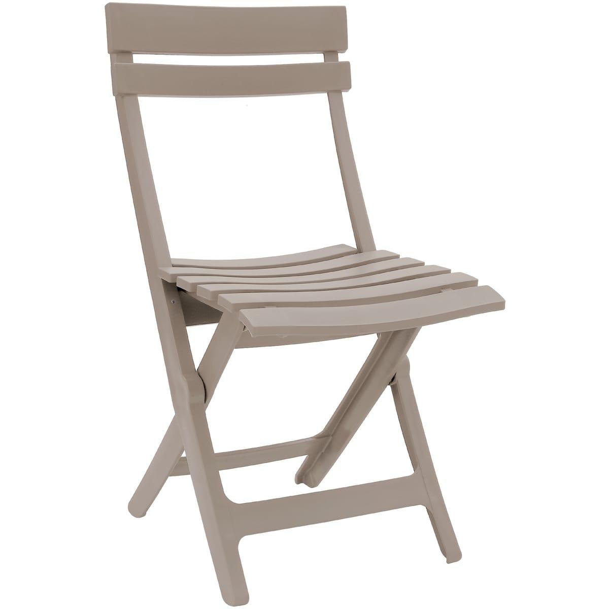 Grosfillex Chaise De Jardin Pliante Résine Miami Lin pour Auchan Table De Jardin