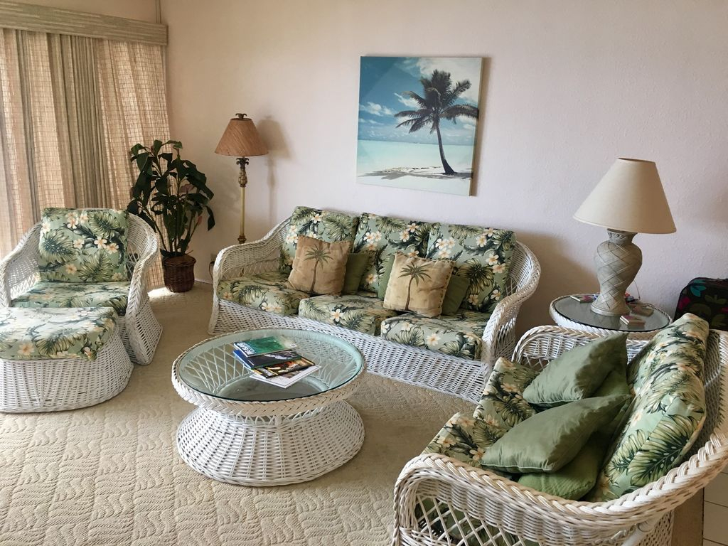 Hawaii-Kona-Sea Village-Beautiful Ocean View (Front) 2 Bd 2Bth - Kailua-Kona dedans Salon De Jardin Hawai