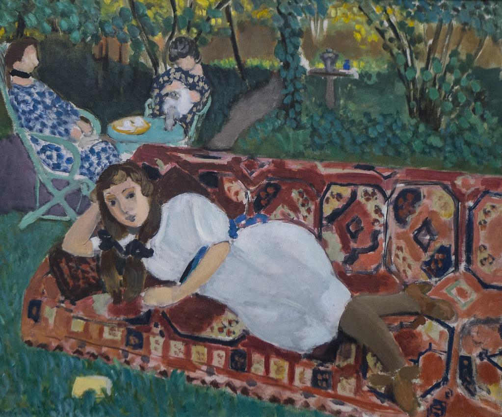 """Henri Matisse (1859-1964) """"jeunes Filles Au Jardin"""" (1919 ... concernant Chaux Jardin"""