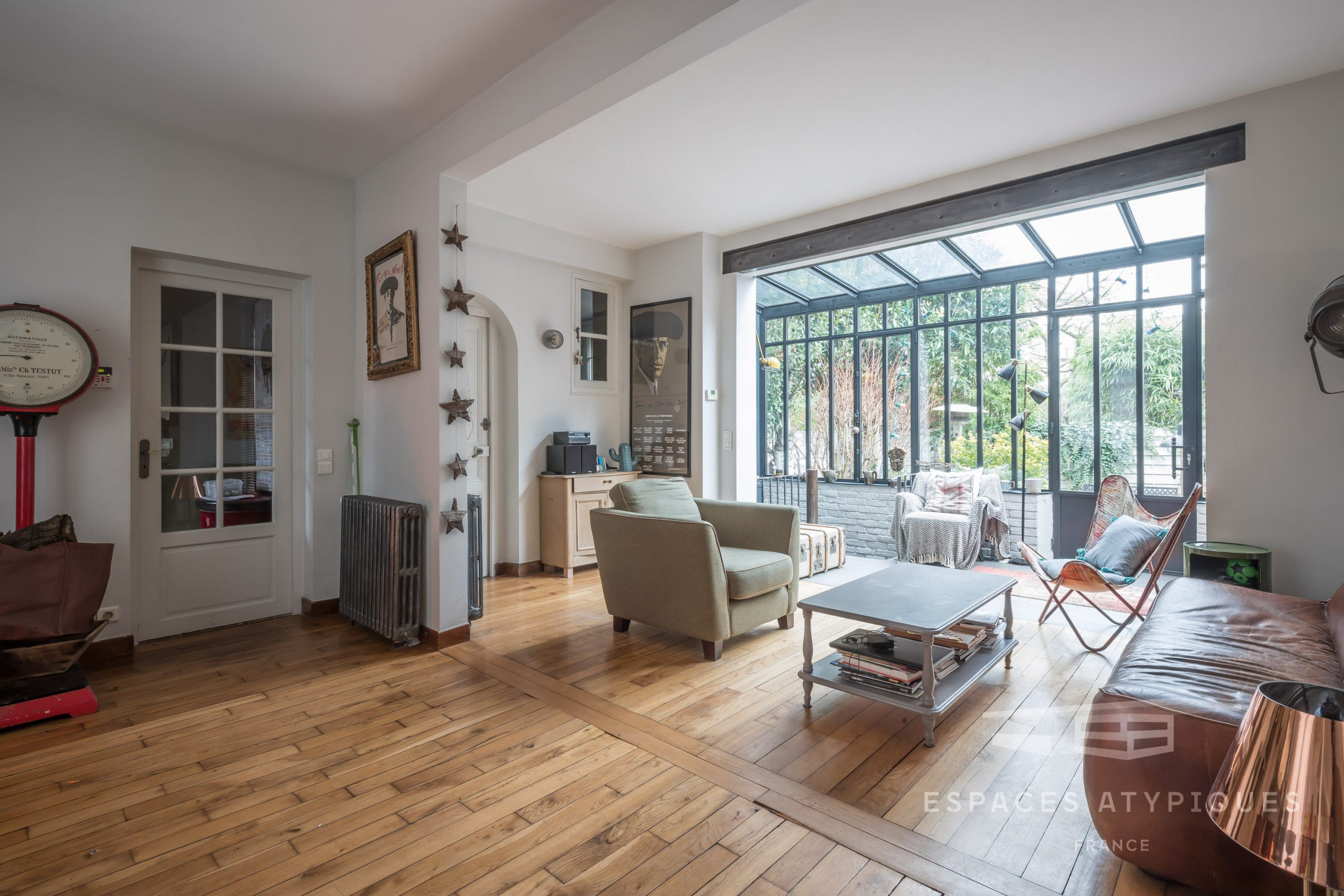 House With Glass Roof And Garden In Bagnolet 93170 à Verriere Jardin