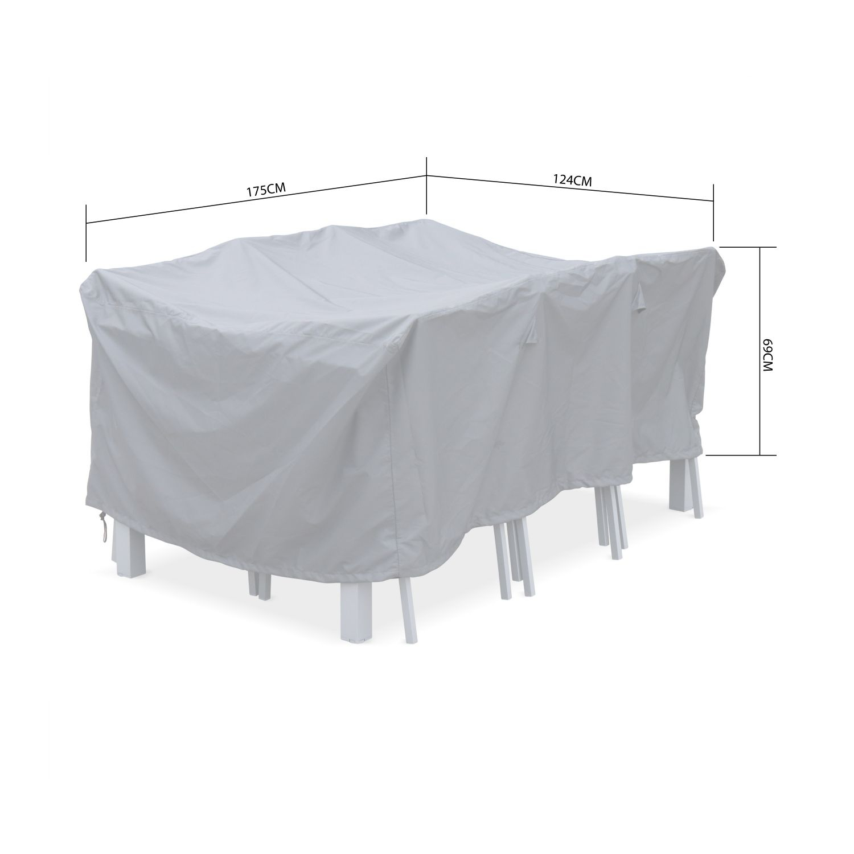 Housse De Protection 175X124Cm Gris Foncé Polyester Pour ... concernant Bache Table Jardin