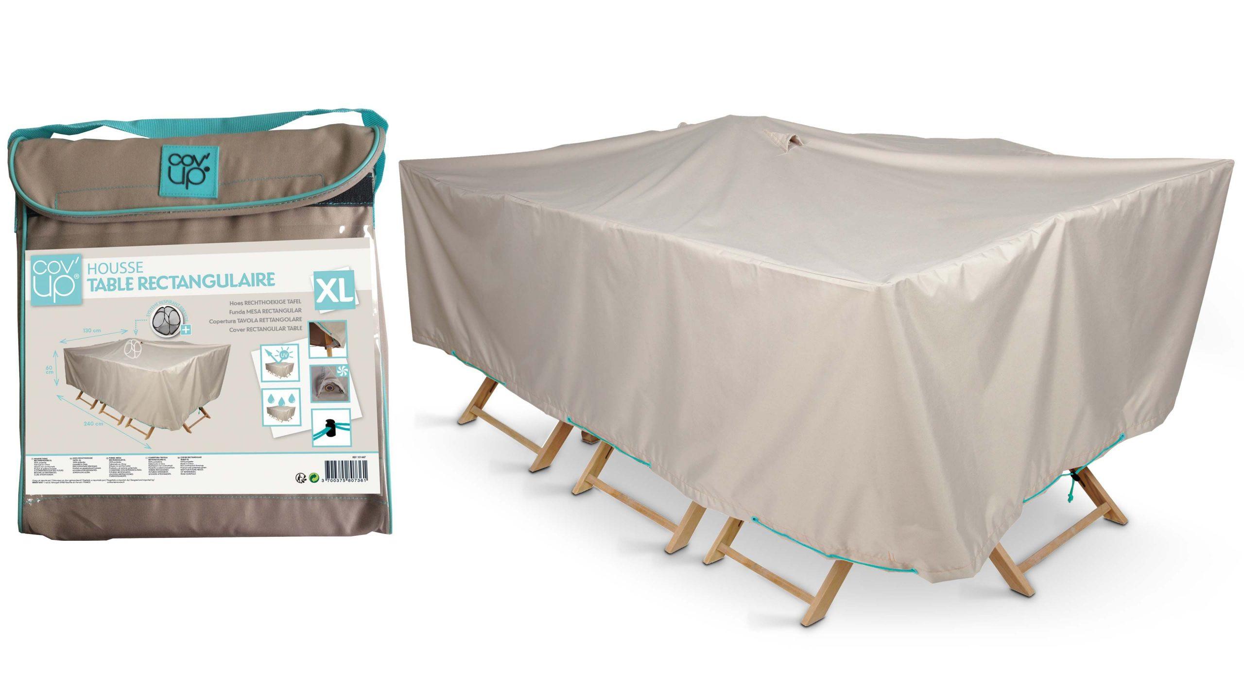Housse De Protection Salon De Jardin Pas Cher | Oviala serapportantà Bache Table Jardin