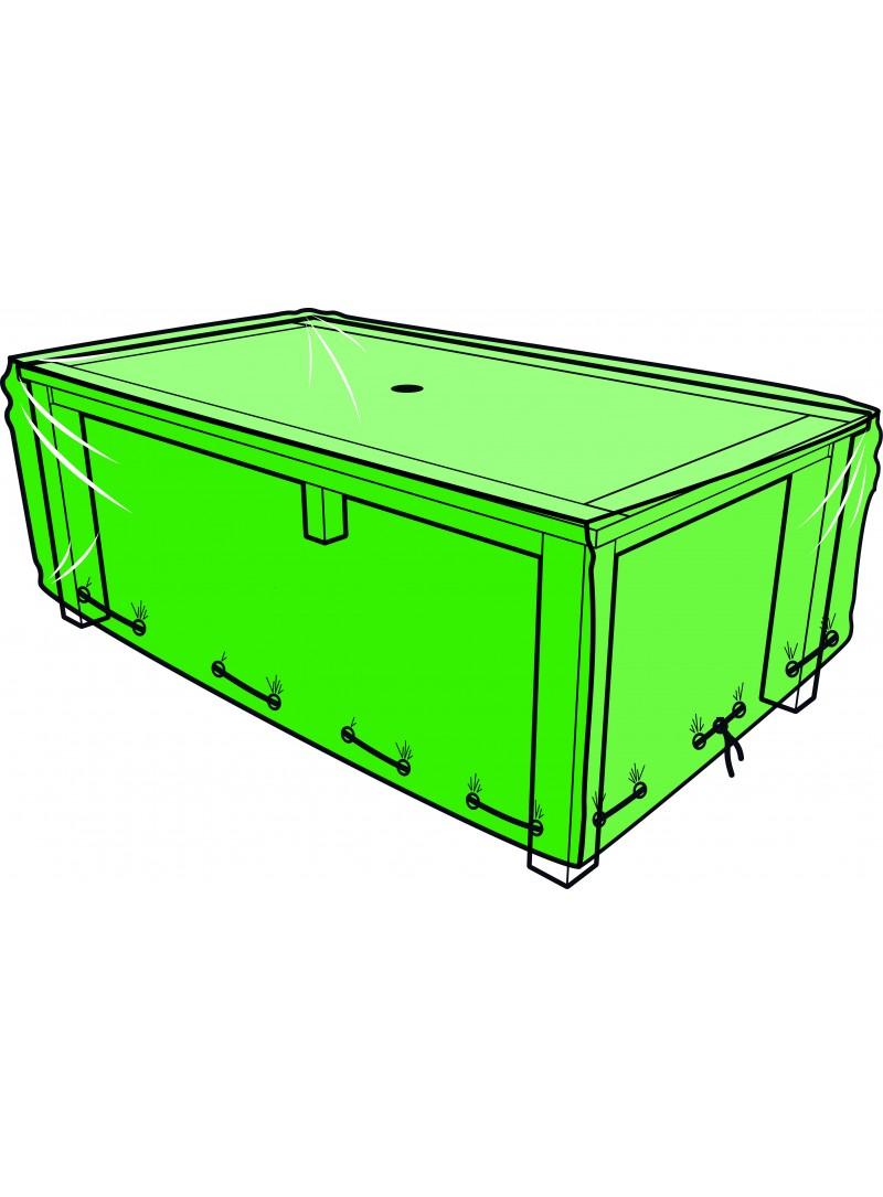Housse Table Rectangulaire 180 X 110 X 60 Cm intérieur Bache Table Jardin