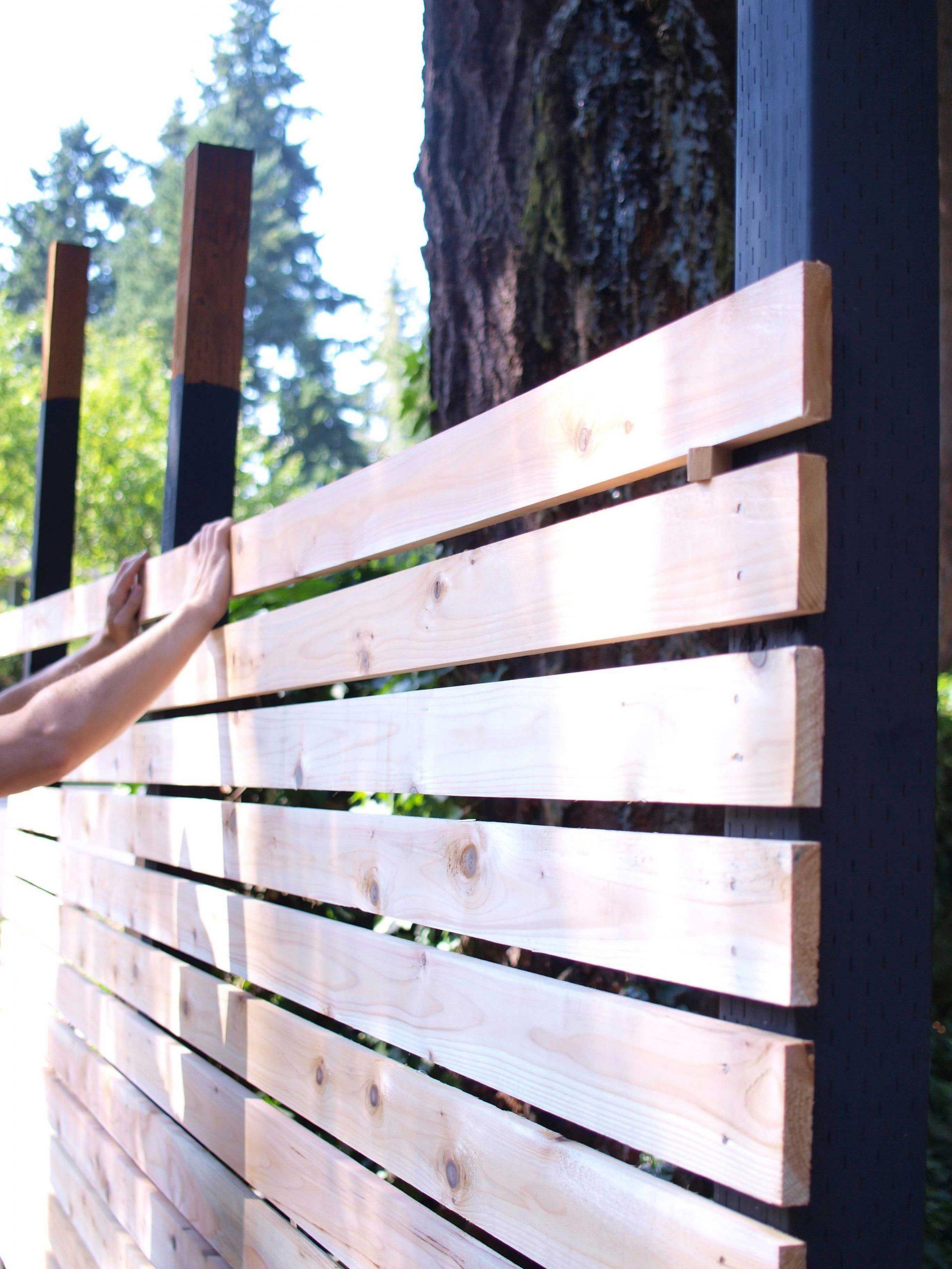 How To Build A Diy Backyard Fence, Part Ii | Cloture Jardin ... avec Separation De Jardin