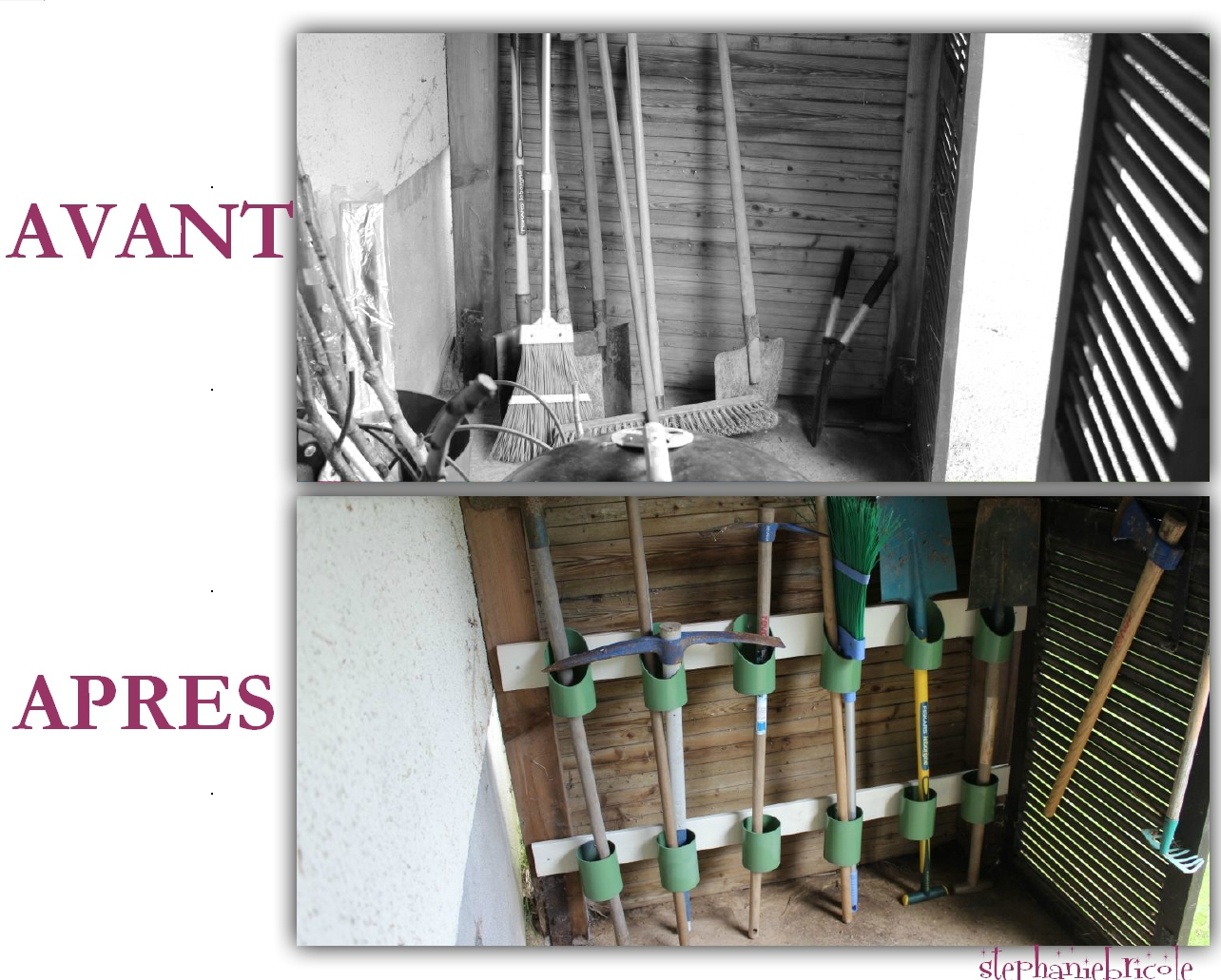 Idée De Rangement Récup Pour Le Jardin ! - Stéphanie Bricole destiné Range Outils De Jardin