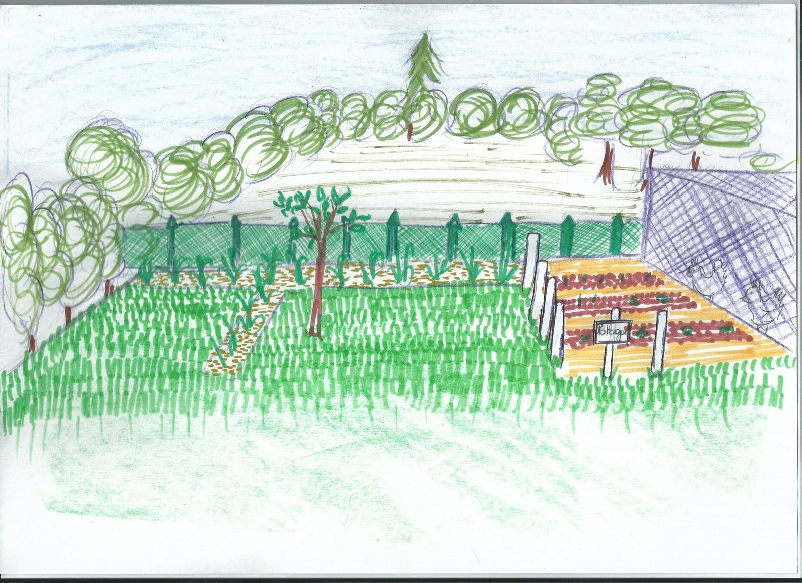 Idée Jardin : Délimitation Du Potager - Ma Maison Vivre Ici dedans Delimitation Jardin