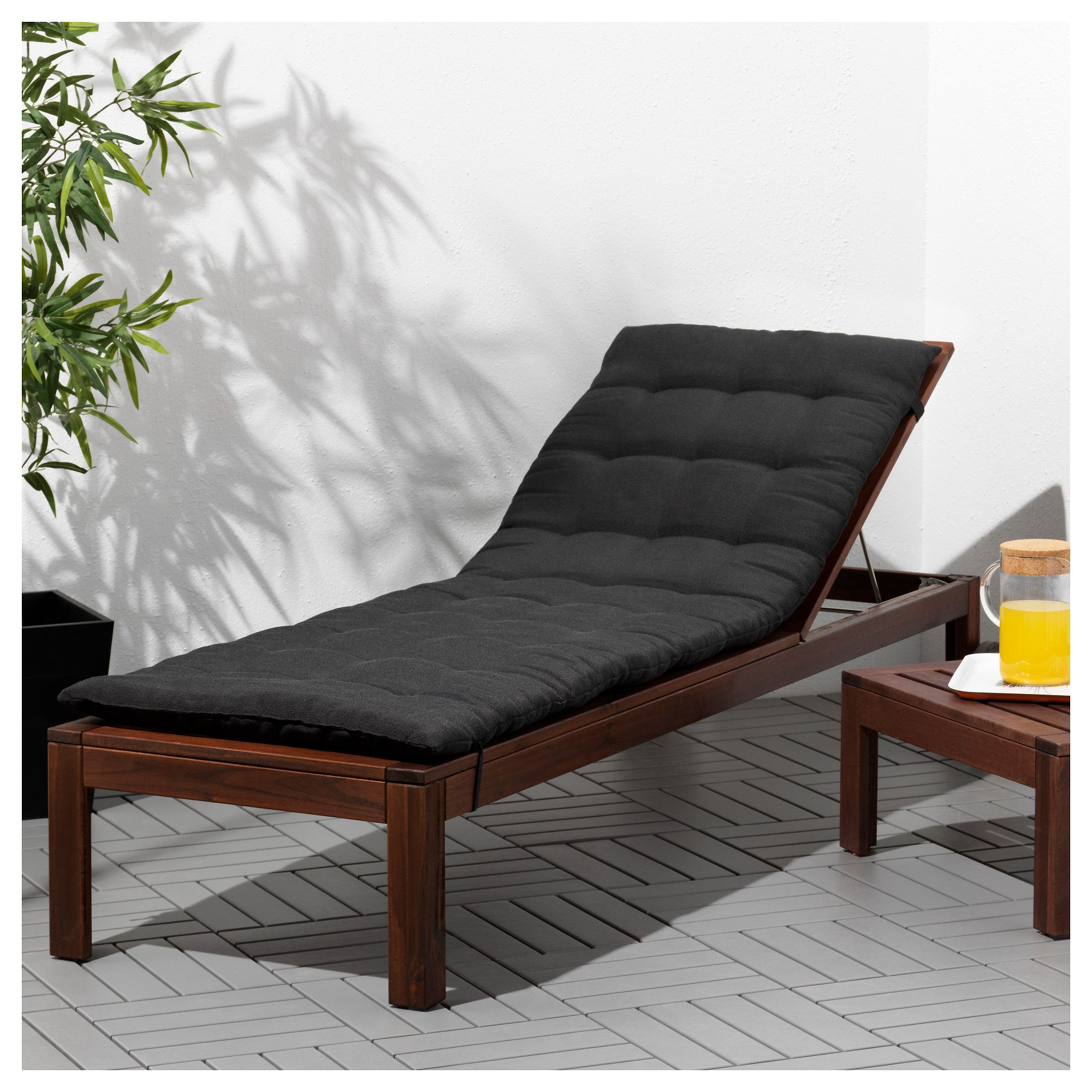 Ikea - Äpplarö Chaise Lounger Brown Stained | Sun Lounger ... destiné Transat Jardin Ikea