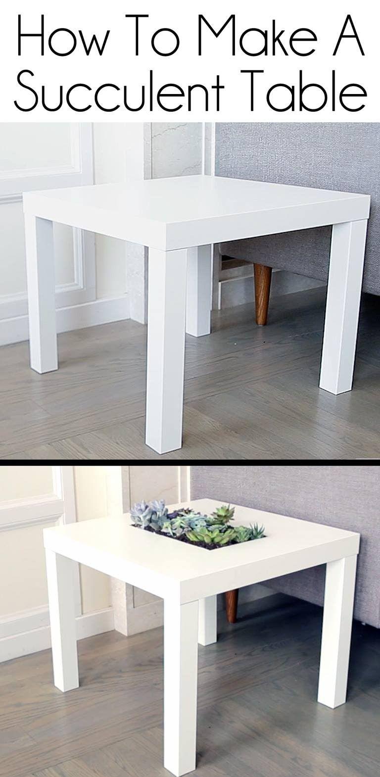 Ikea, Une Table Avec Des Plantes Diy | Table Ikea, Table ... tout Table Basse De Jardin Ikea