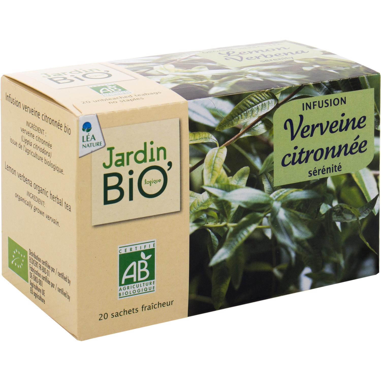 Infusion Verveine Citronnée Jardin Bio'logique Jardin Bio ... tout Tonnelle De Jardin Carrefour