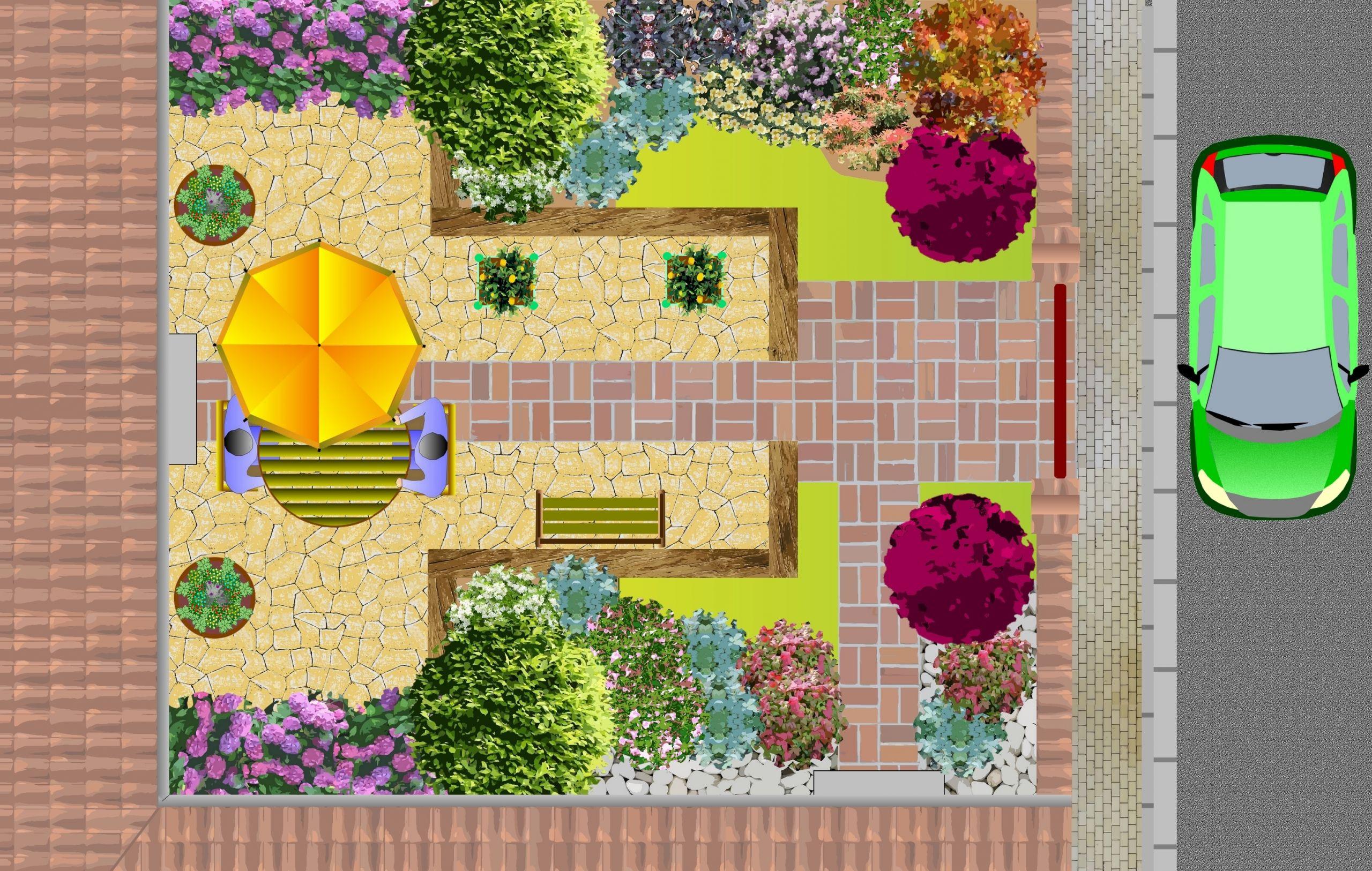 Jardin Paysager Exemple Exemple Plan Jardin Modéle D ... tout Exemple D Aménagement De Jardin