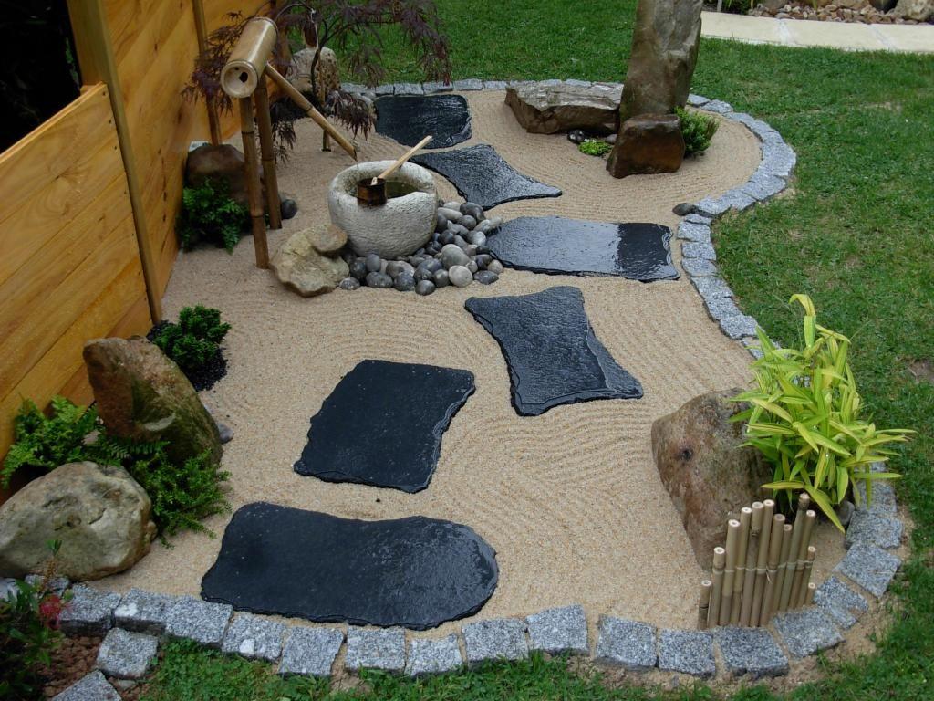 Jardin Zen Avec Bouddha Schème - Idees Conception Jardin avec Jardin Avec Galets Blancs