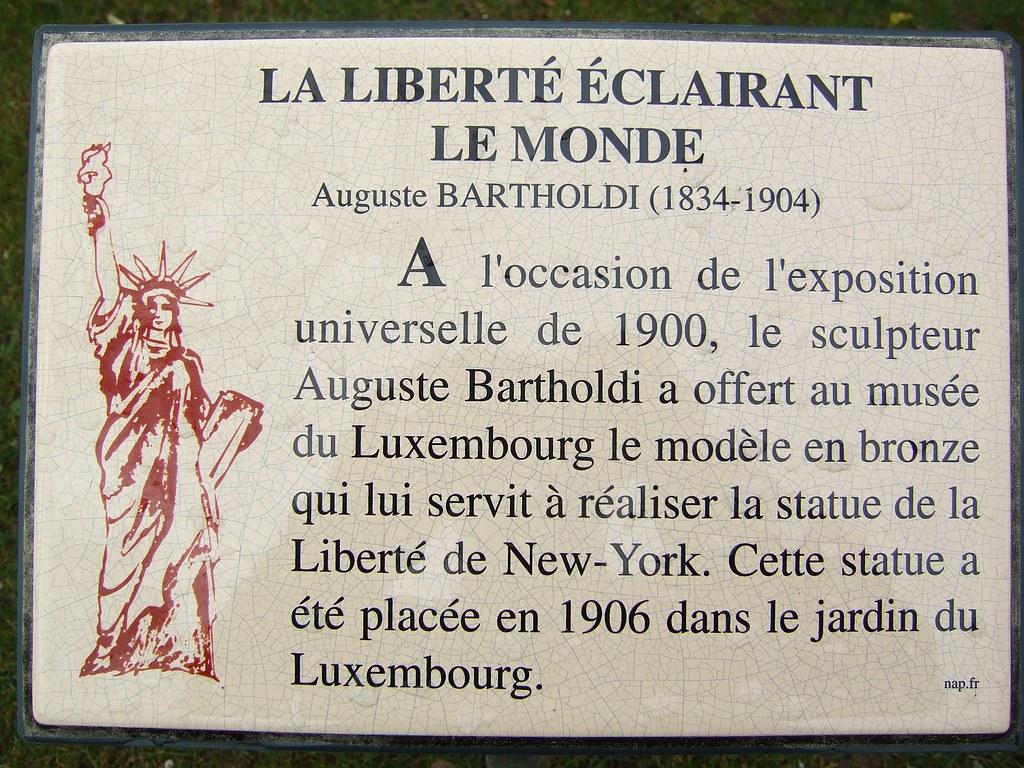 Jardins De Luxembourg - Statue Of Liberty Plaque | Byronv2 ... encequiconcerne Statues De Jardin Occasion