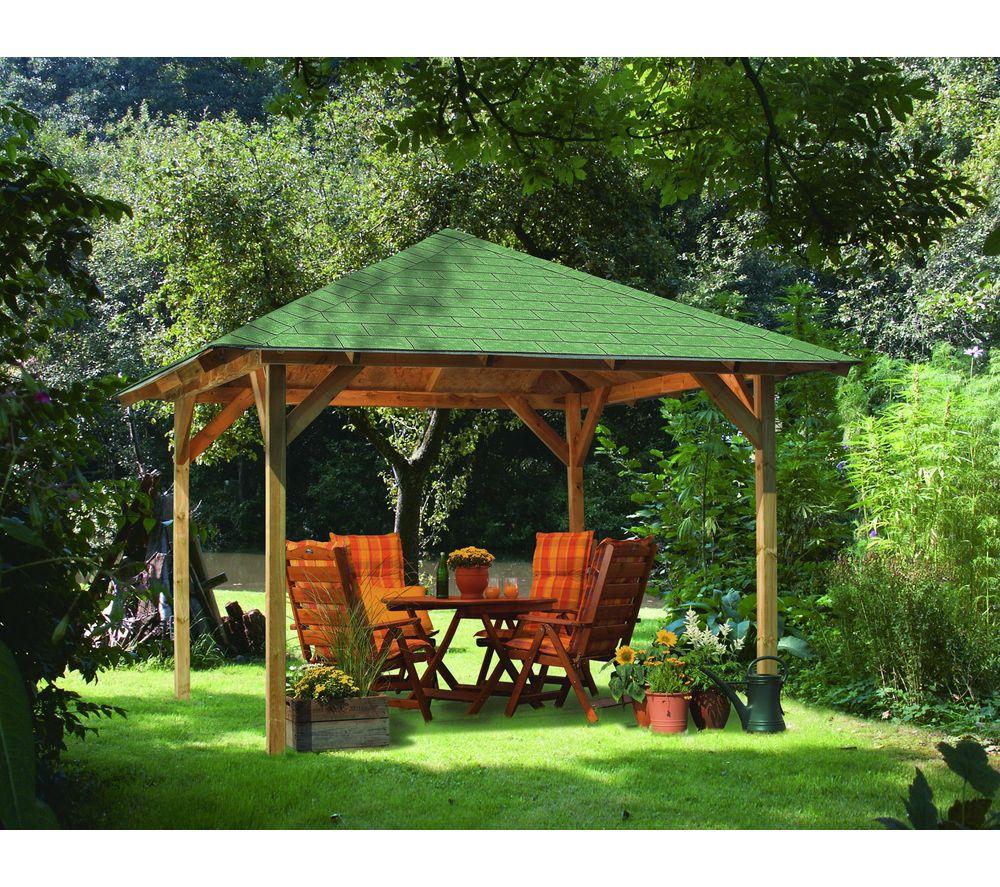 Karibu Tonnelle Cordoba En Bois - Tonnelle Carrefour ... pour Tonnelle De Jardin Carrefour