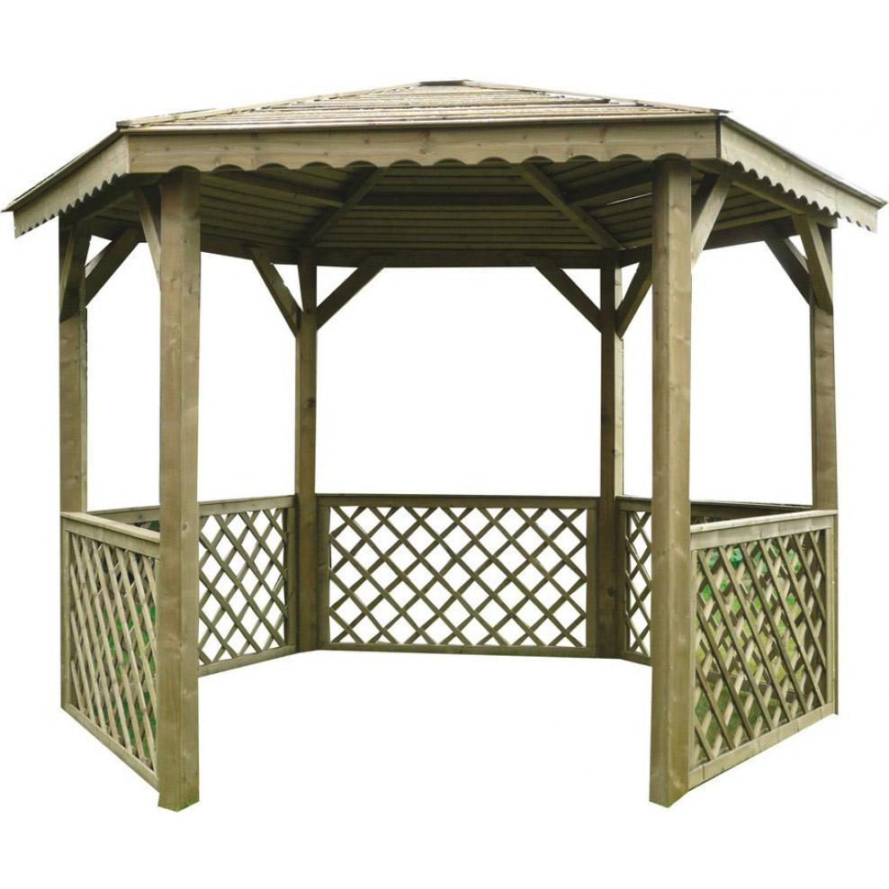 Kiosque De Jardin - Achat Kiosque Ou Gloriette De Jardin Pas ... destiné Serre De Jardin D Occasion