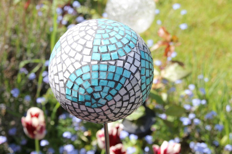 La Boule De Jardin Décorative En Mosaïque: Les Bleus De Mer ... avec Boule Décorative Jardin