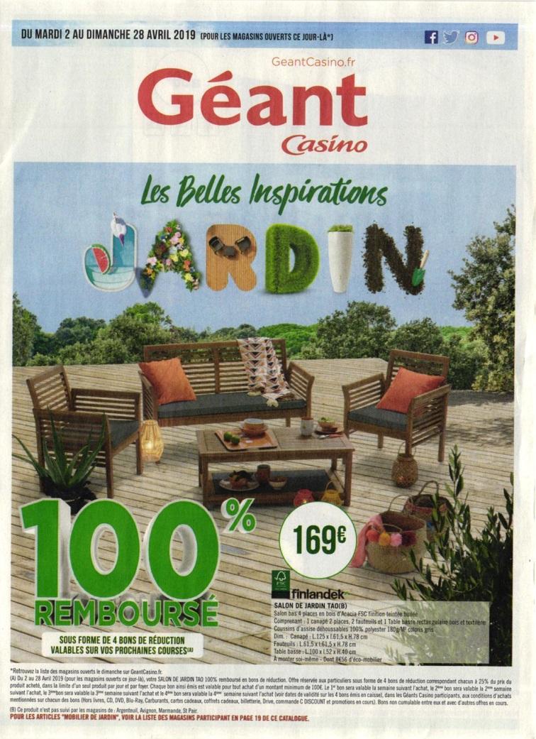 Le Bon Plan Geant Casino - L'annuaire Hoodspot concernant Table De Jardin Geant Casino