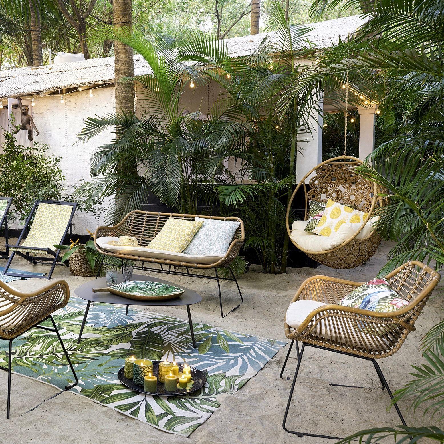Le Style Scandinave Envahit Aussi La Décoration Du Jardin De ... pour Salon De Jardin Intermarché