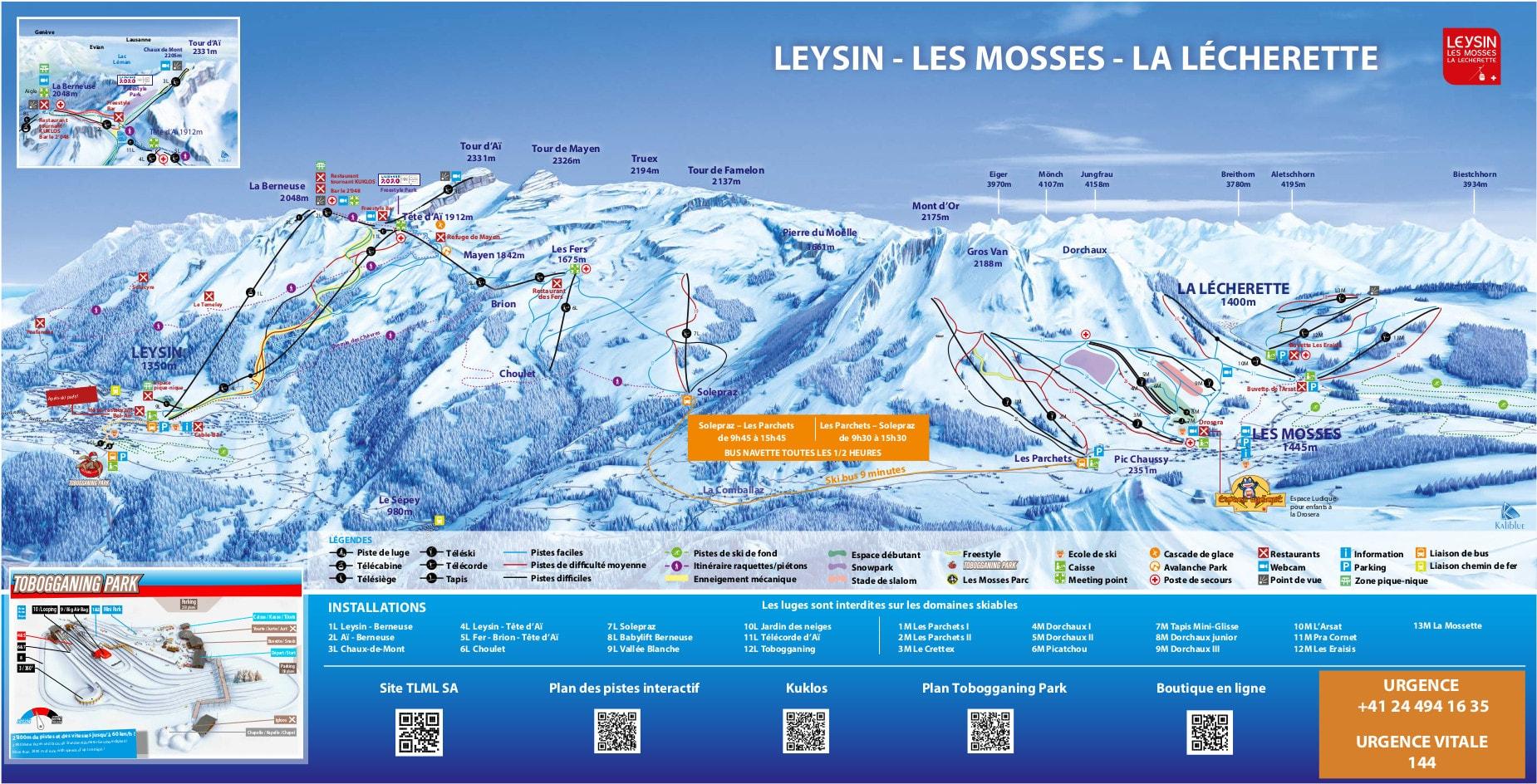 Leysin Ski Map Free Download intérieur Chaux Jardin