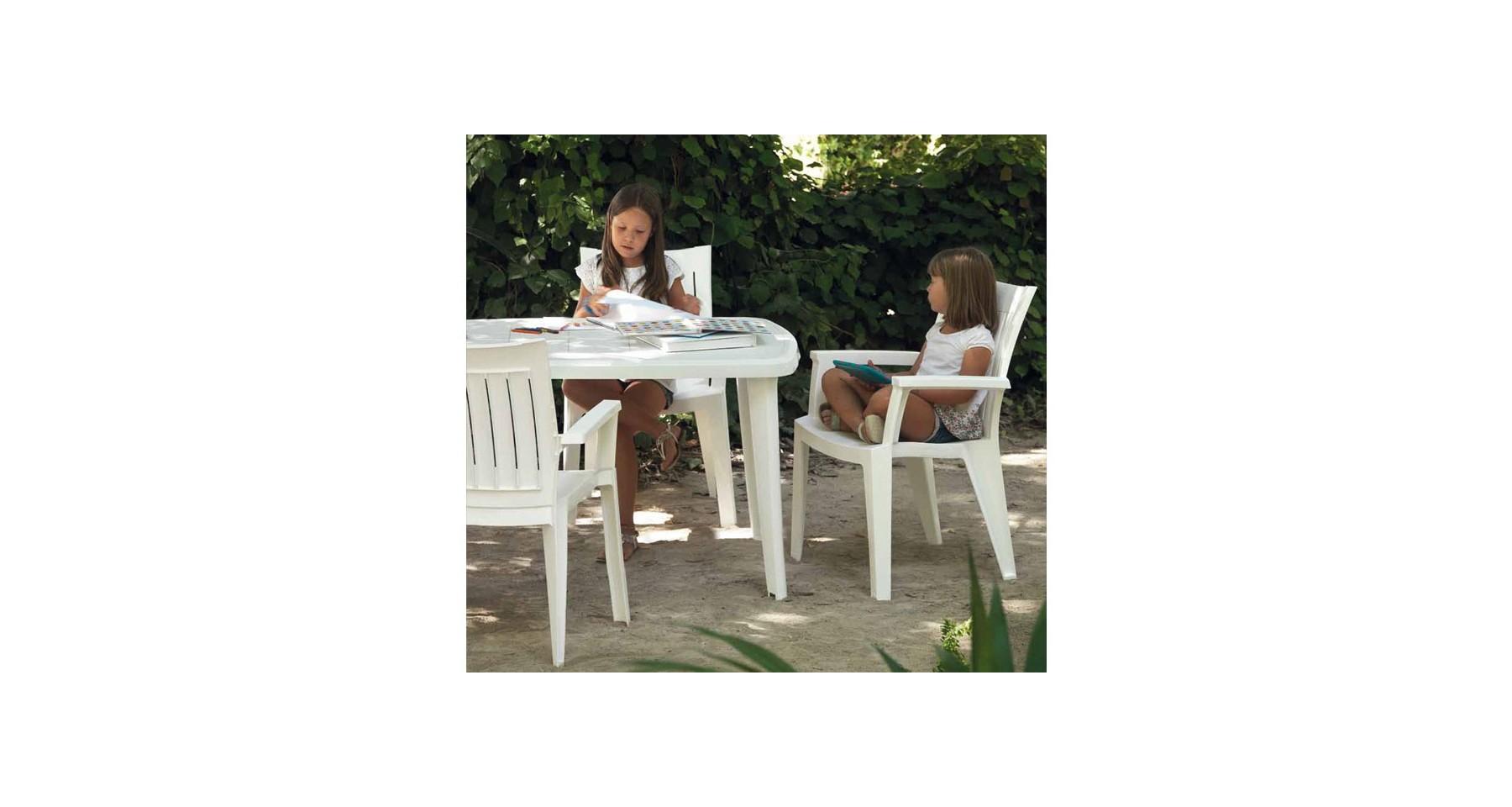 Lot 24 Tables De Jardin En Polypropylène Blanc Et Pieds ... serapportantà Tonelle De Jardin