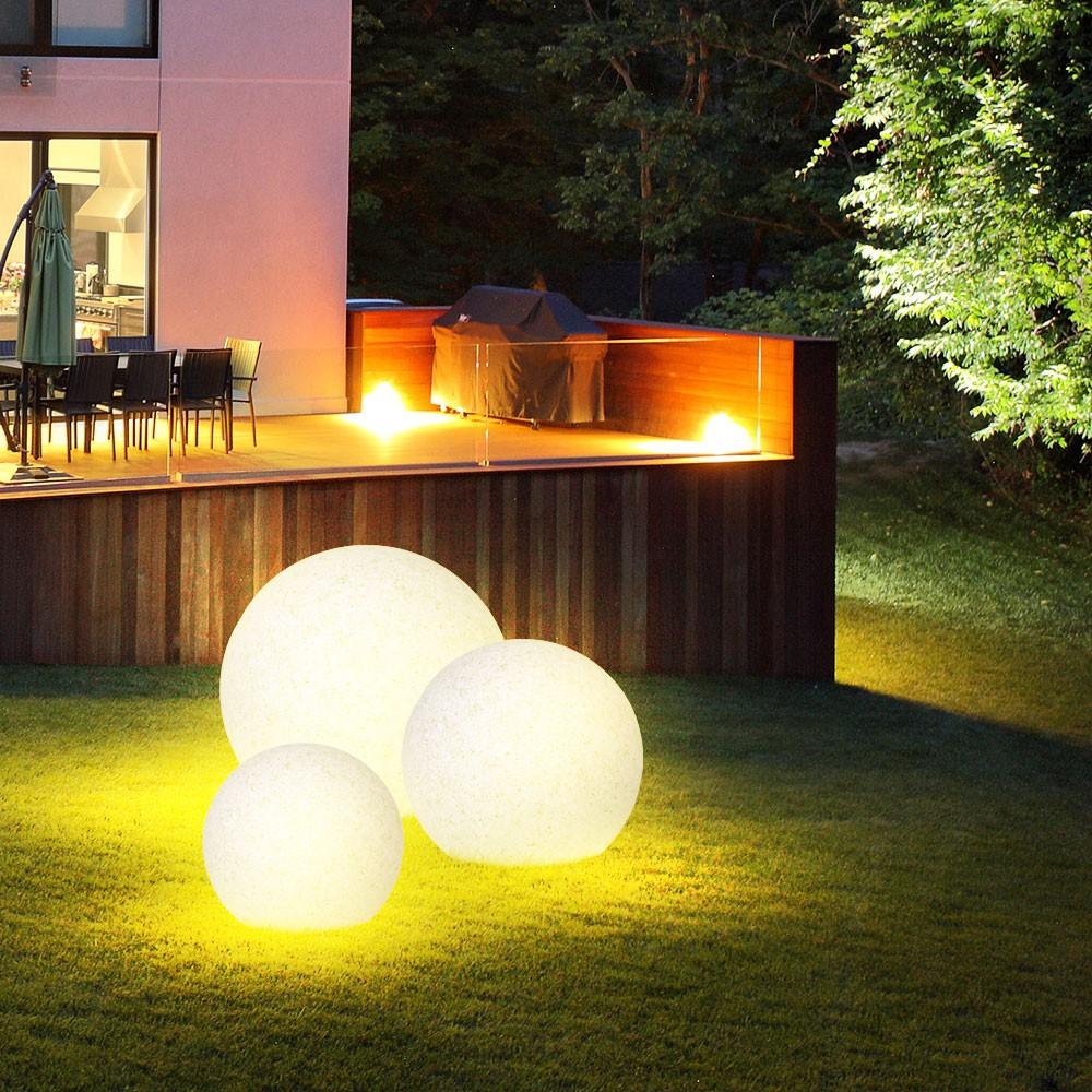 Luminaire Extérieur Jardin Boule Lumineuse Pierre Espace Extérieur Jardin  Ip65 intérieur Boule Lumineuse Jardin