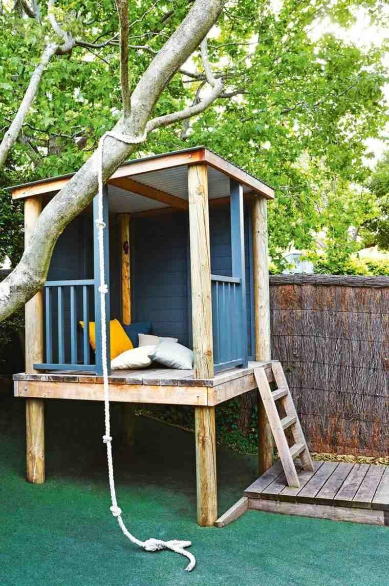 Maison-Dans-Les-Arbres-Enfant-Bois-A-Fabriquer-Modele ... avec Cabane De Jardin Enfant Bois