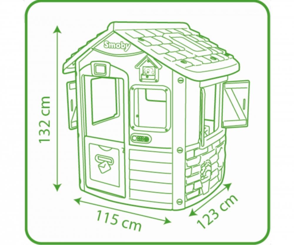 Maison De Jardin Neo Jura Lodge Personnalisable 810500 Smoby ... pour Maison Jardin Smoby