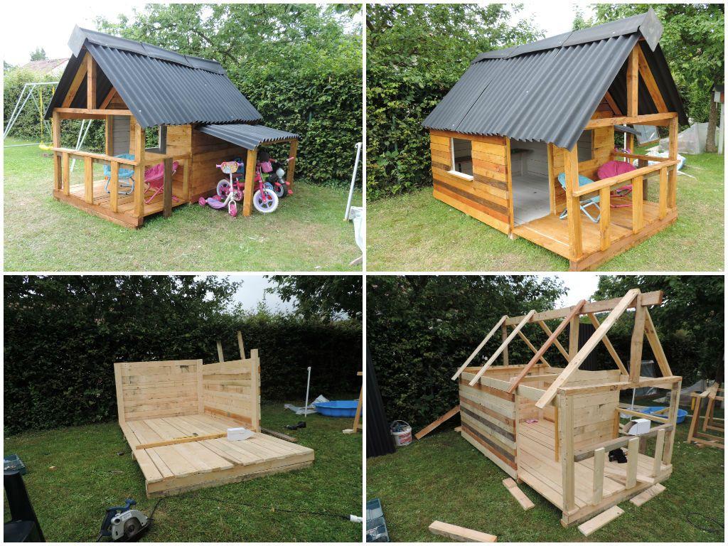 Maison De Jardin Pour Enfant / Pallets Kids House | Jouets ... dedans Maison De Jardin Pour Enfant