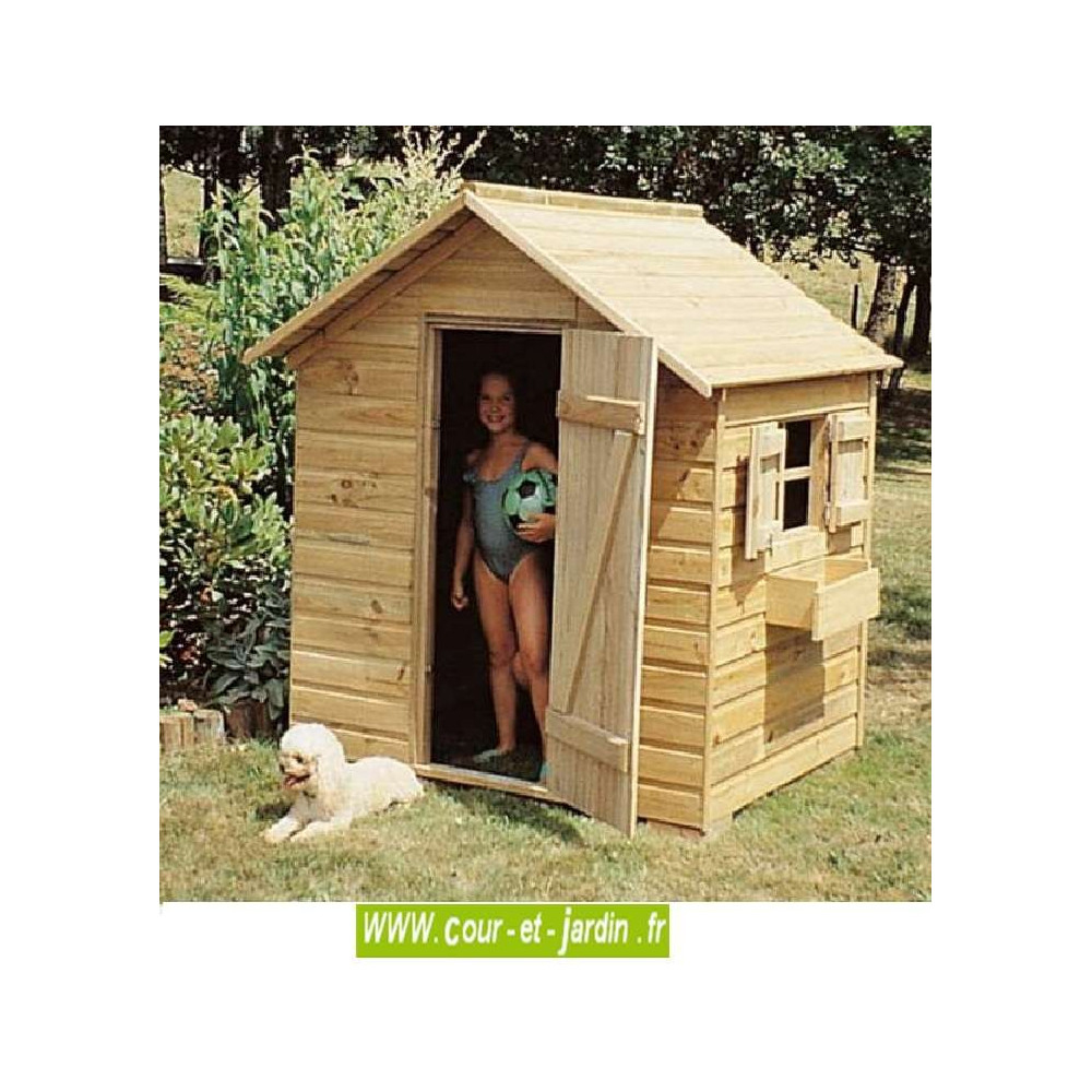 Maison Jardin Enfant ▷ Maisonnette, Cabane Jardin Enfant ... destiné Cabane De Jardin Enfant Bois