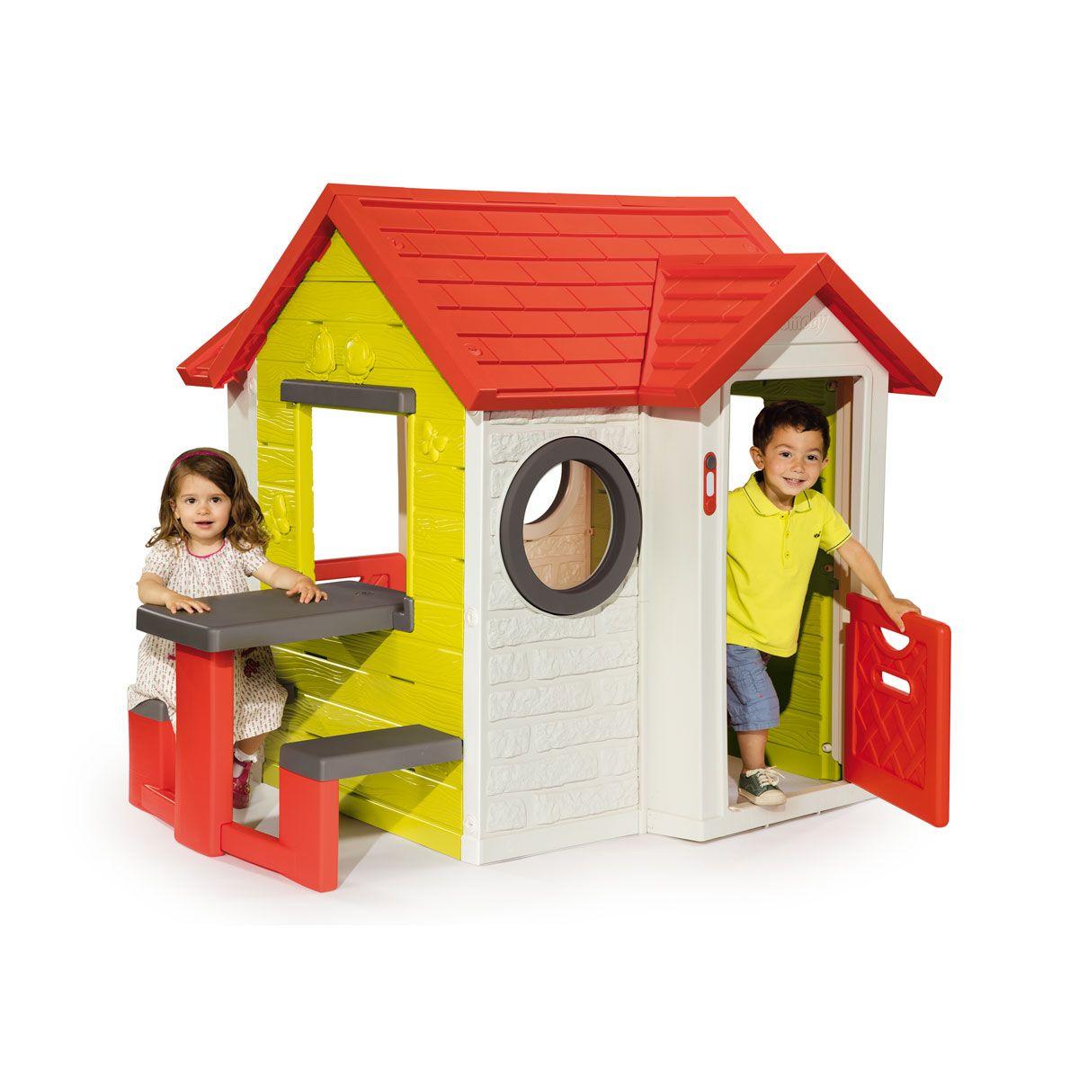 Maison My House Et Table De Pique-Nique Smoby Pour Enfant De ... pour Maison De Jardin Smoby